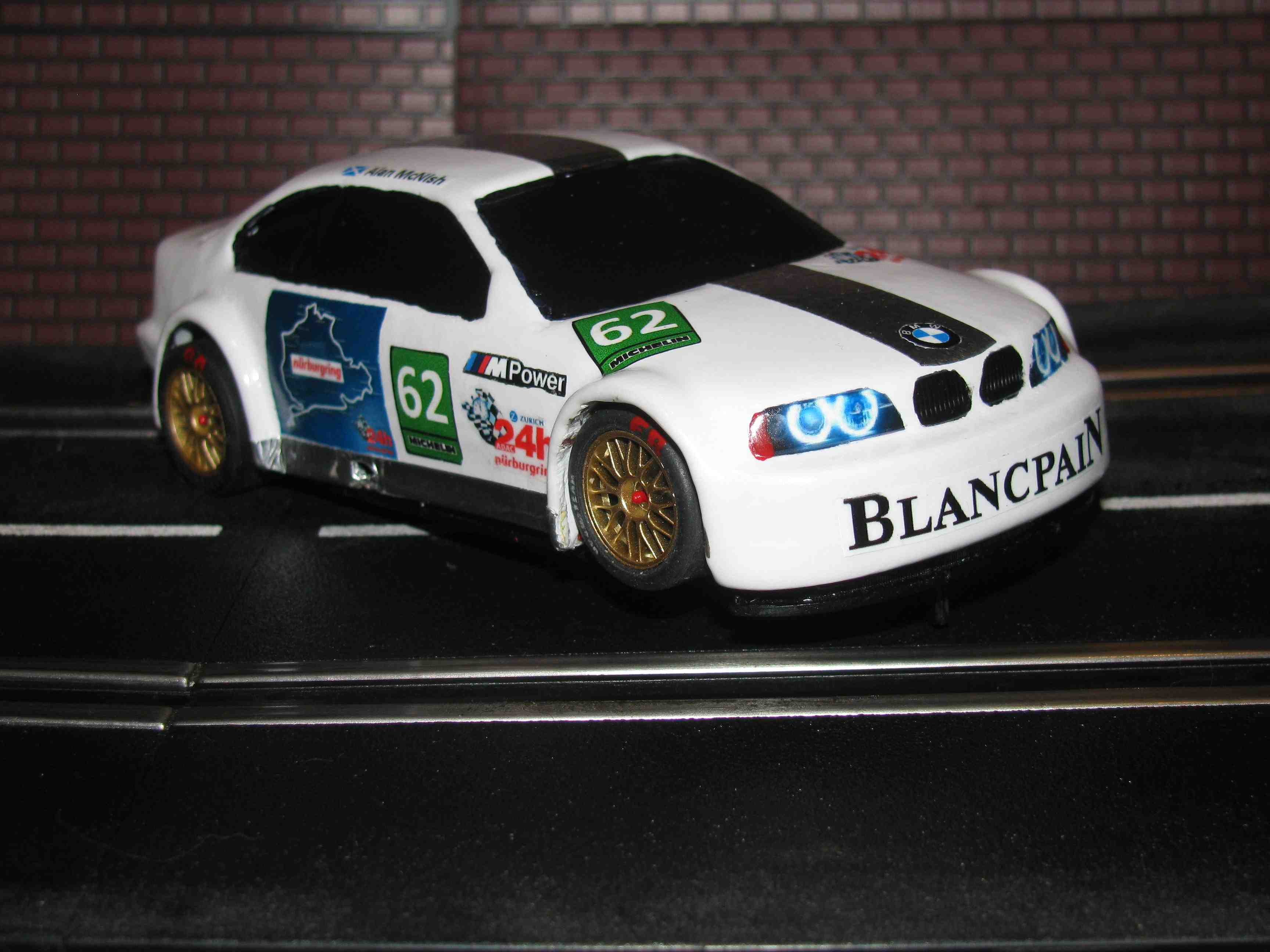 "*SOLD* NINCO BMW M5 GTR Custom MotorSport ""Nurburgring Edition"" Slot Car - 1/32 Scale"