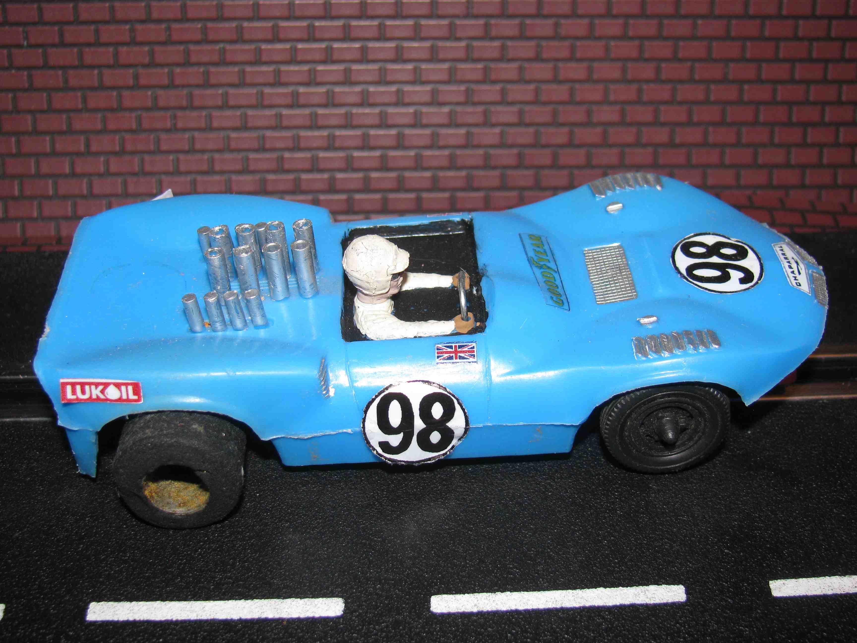 Eldon Chaparral Slot Car Blue Body - Car#98 – 1/32 Scale