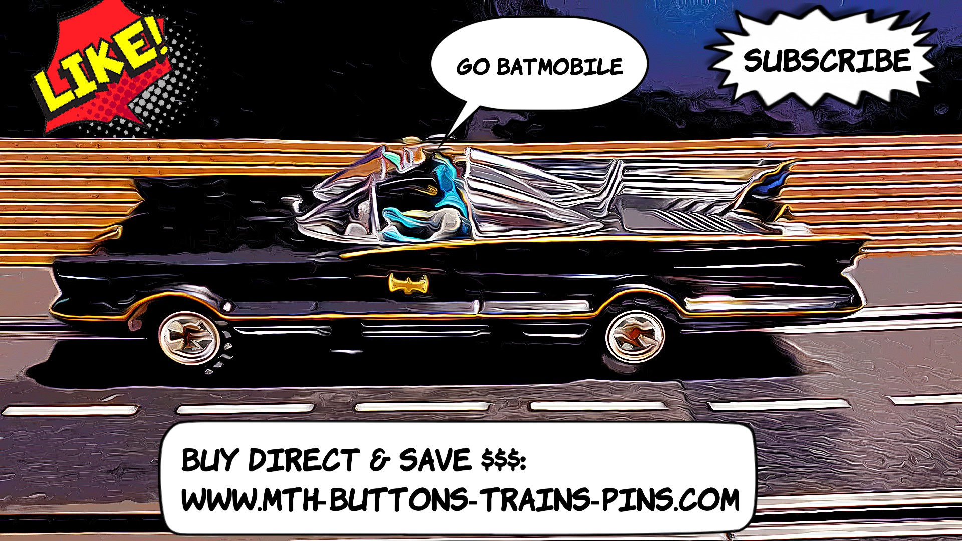 *SOLD, For Joe K. ONLY* *SALE* Original Batmobile Slot Car with Batman & Robin Very Rare Limited Edition 1:24 Scale