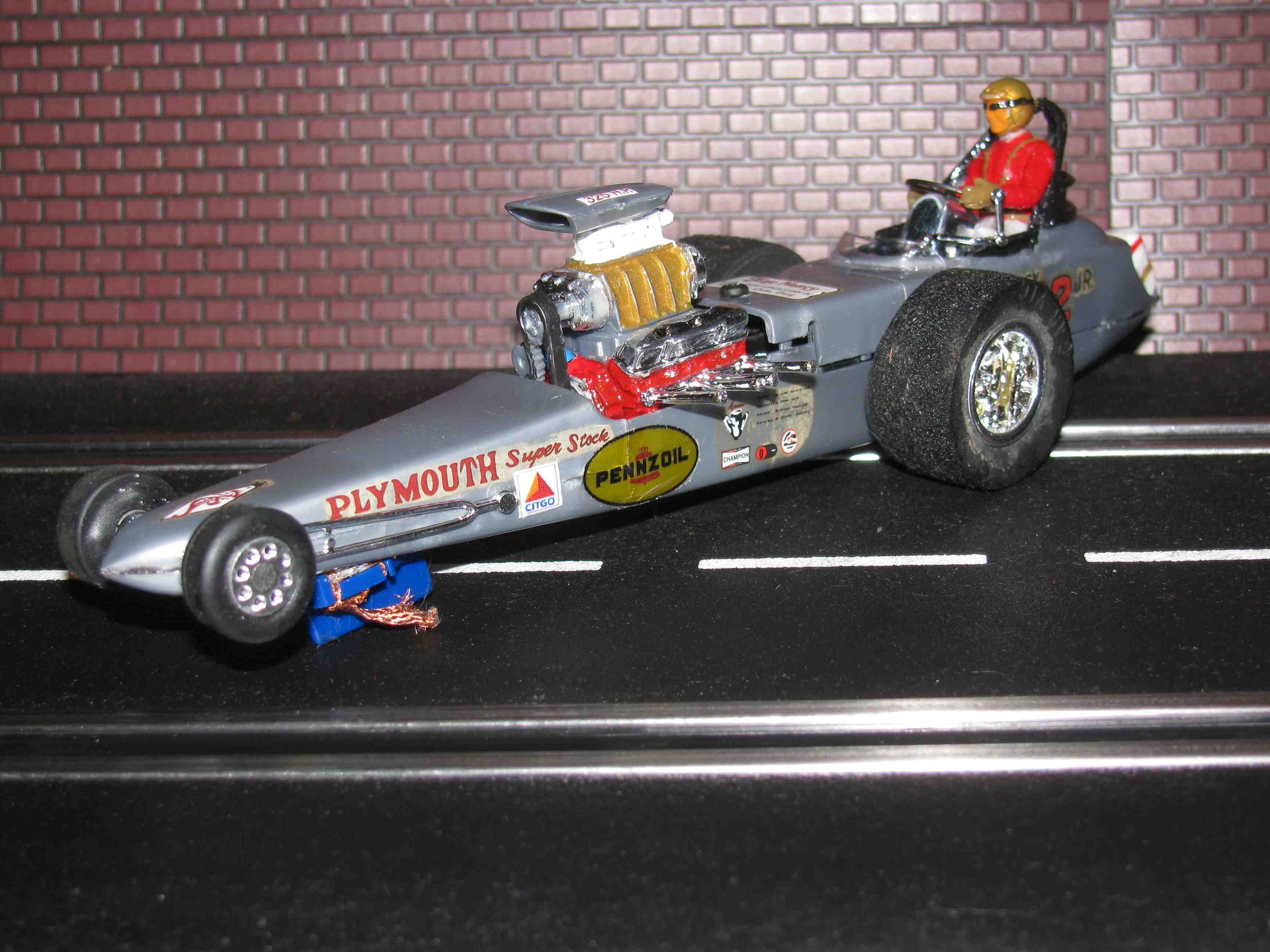 * SOLD * Vintage Revell Monogram Tony Nancy Plymouth Super Stock Dragster Slot Car 1/32 Scale - #22