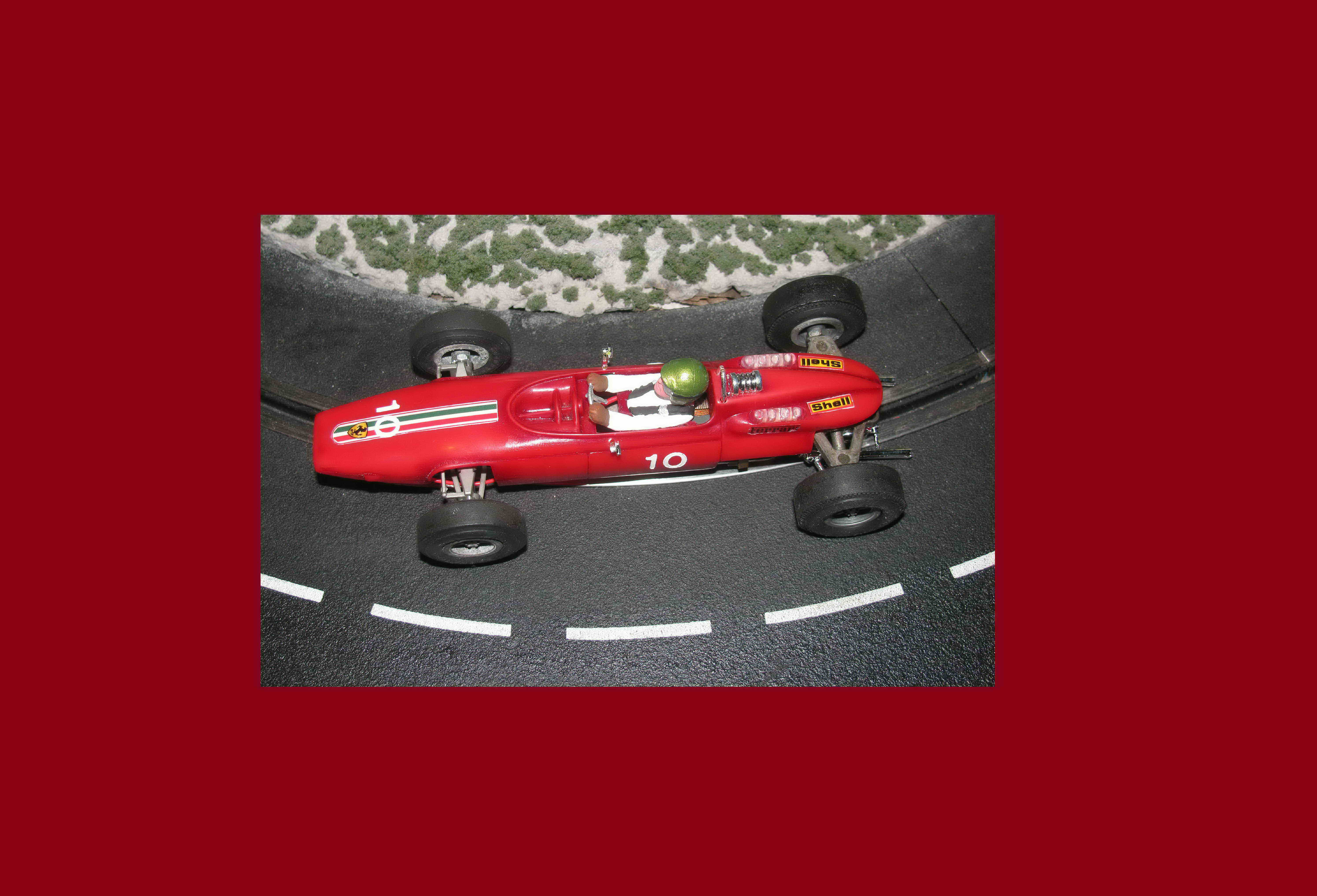 *SOLD* Vintage COX 1/24 Ferrari F-1 slot car #10