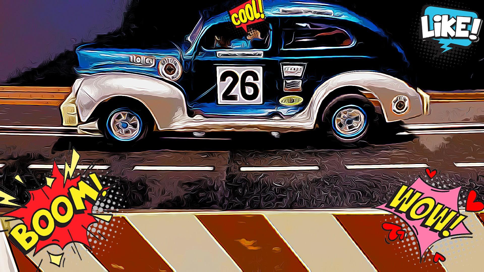 *SALE* Vintage Monogram 1940's Jalopy Coupe Frankie Schneider Stock Car #2 Slot Car 1/24 Scale