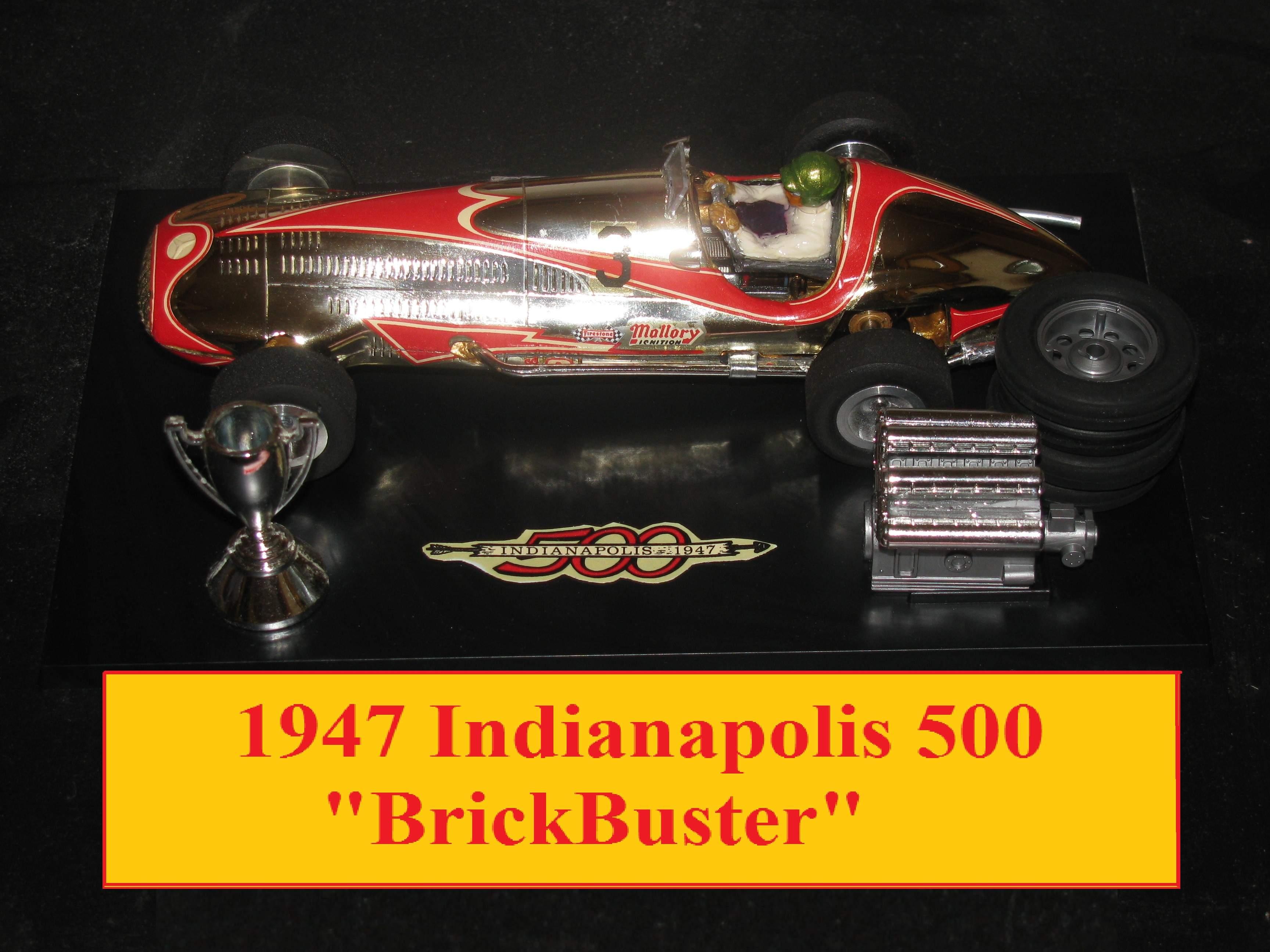 * Winter Super Sale * Stirling Moss 1939 Mercedes Benz (W163) Grand Prix Racer Indianapolis 500 'Brickbuster' 1/24 Scale Slot Car