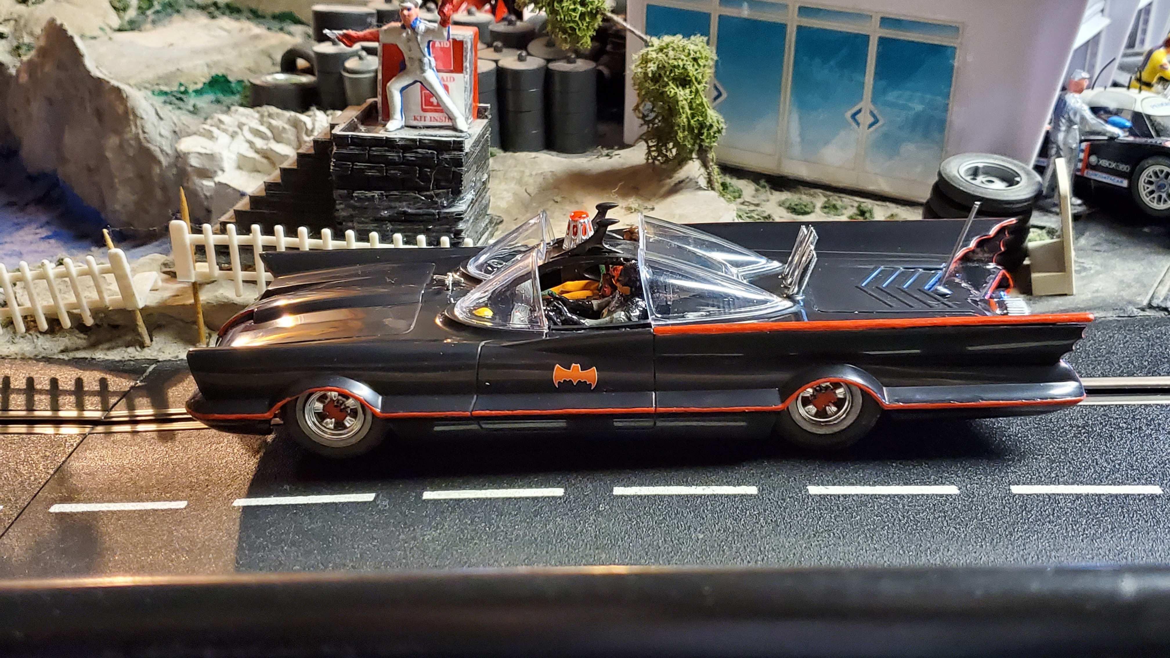 *SOLD* * SALE * Original Batmobile Slot Car with Batman & Robin Very Rare Limited Edition 1:24 Scale