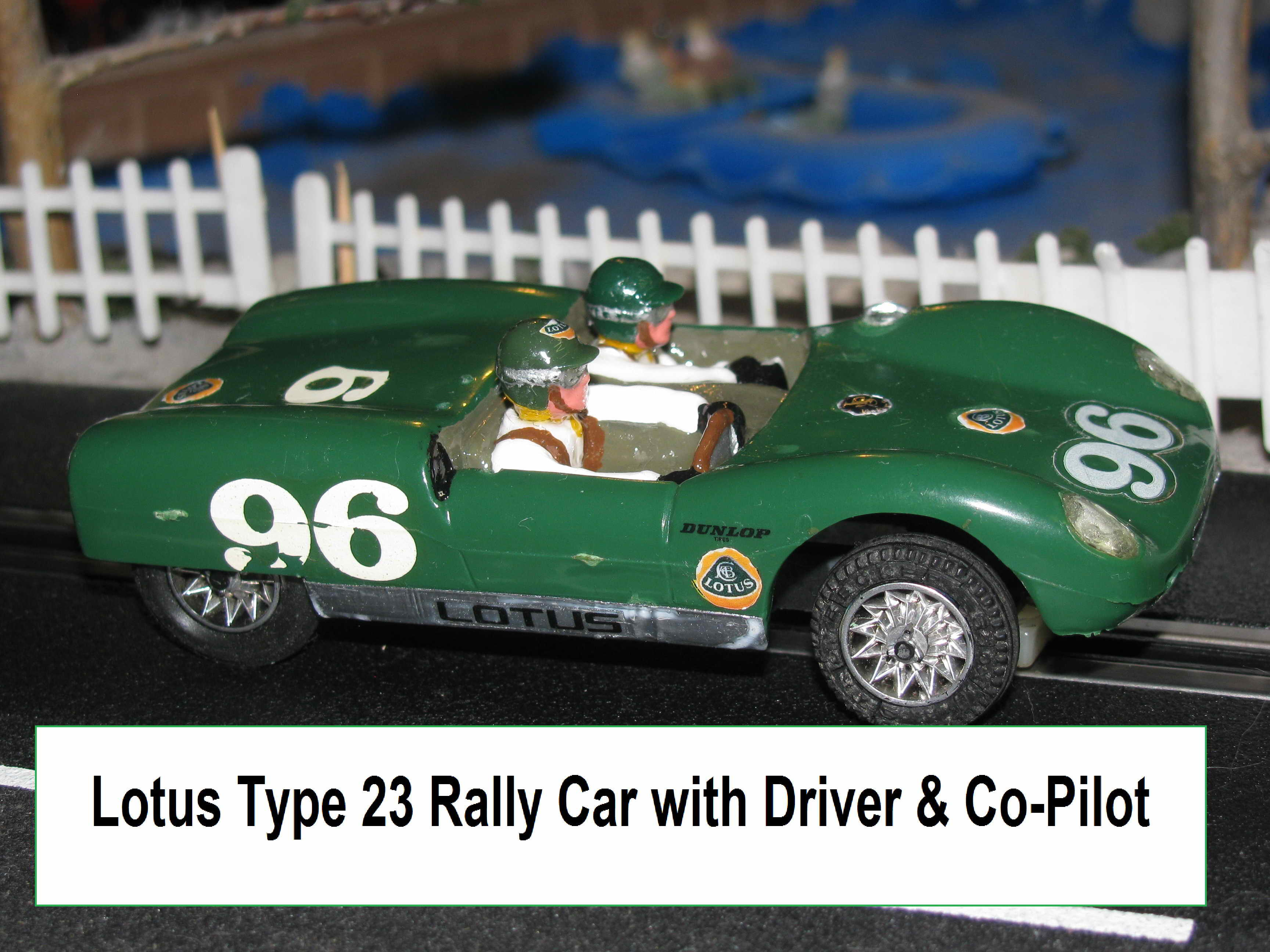 * SOLD * Strombecker Lotus Type 23 MK XIX Rally Slot Car in 1/32 Scale