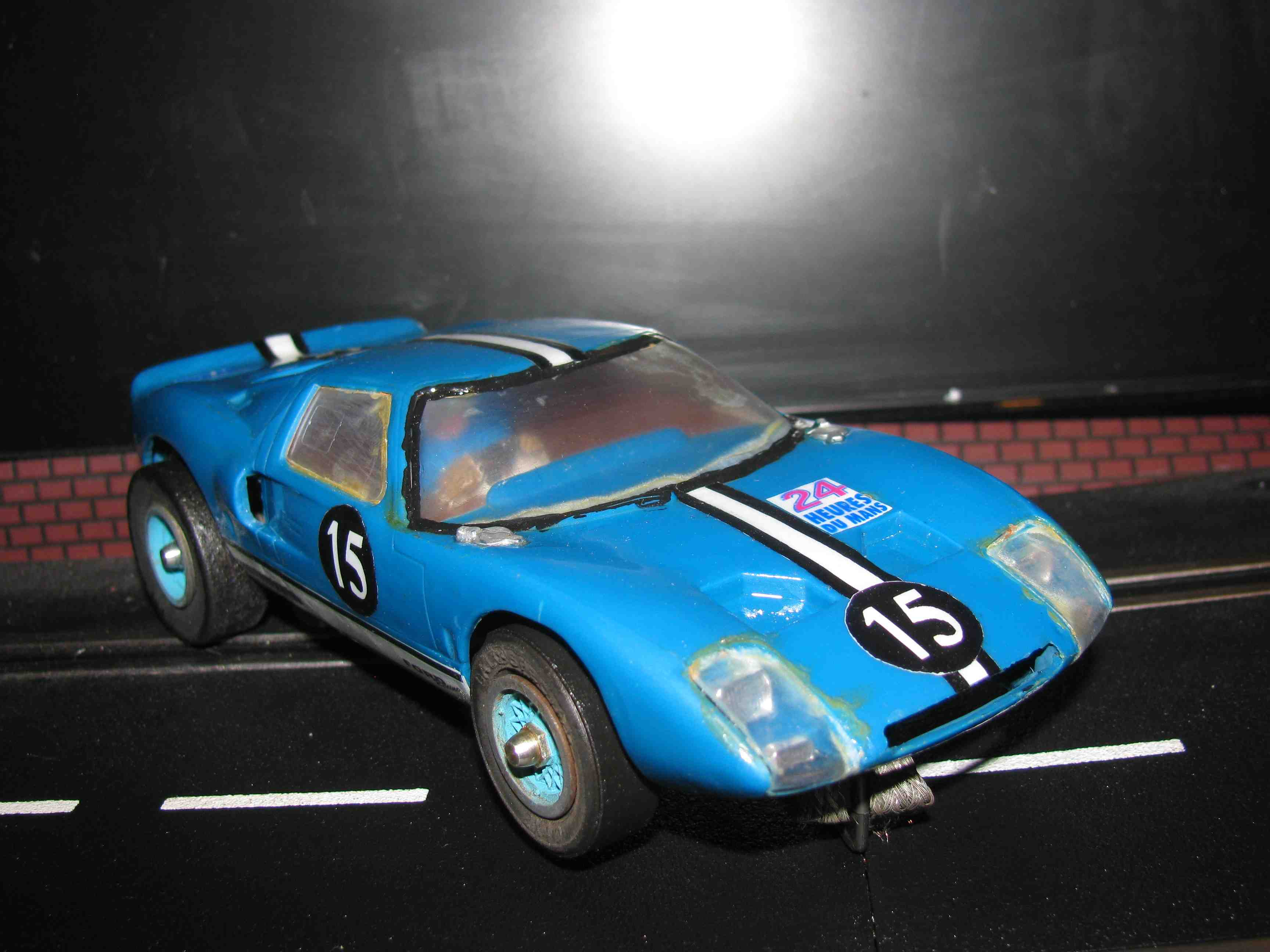 * SOLD * SALE - Vintage FORD GT LeMans Racer in Powder Blue - Slot Car 1/24 Scale – Car 15