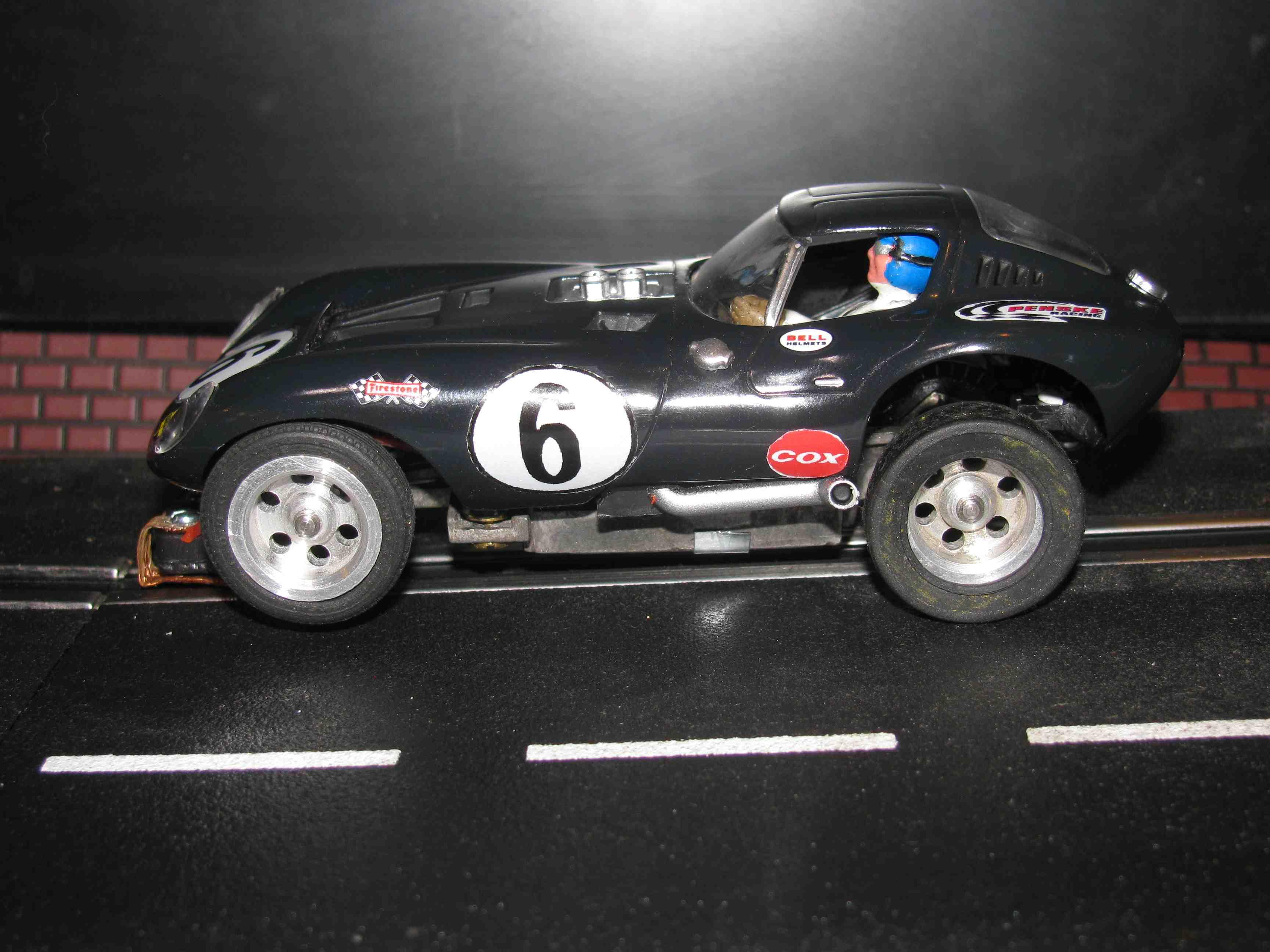 * SOLD * Vintage COX Cheetah Slot Car 1/32 Scale – Black – Car #6 – Bill Thomas's Cobra & Ferrari Fighter