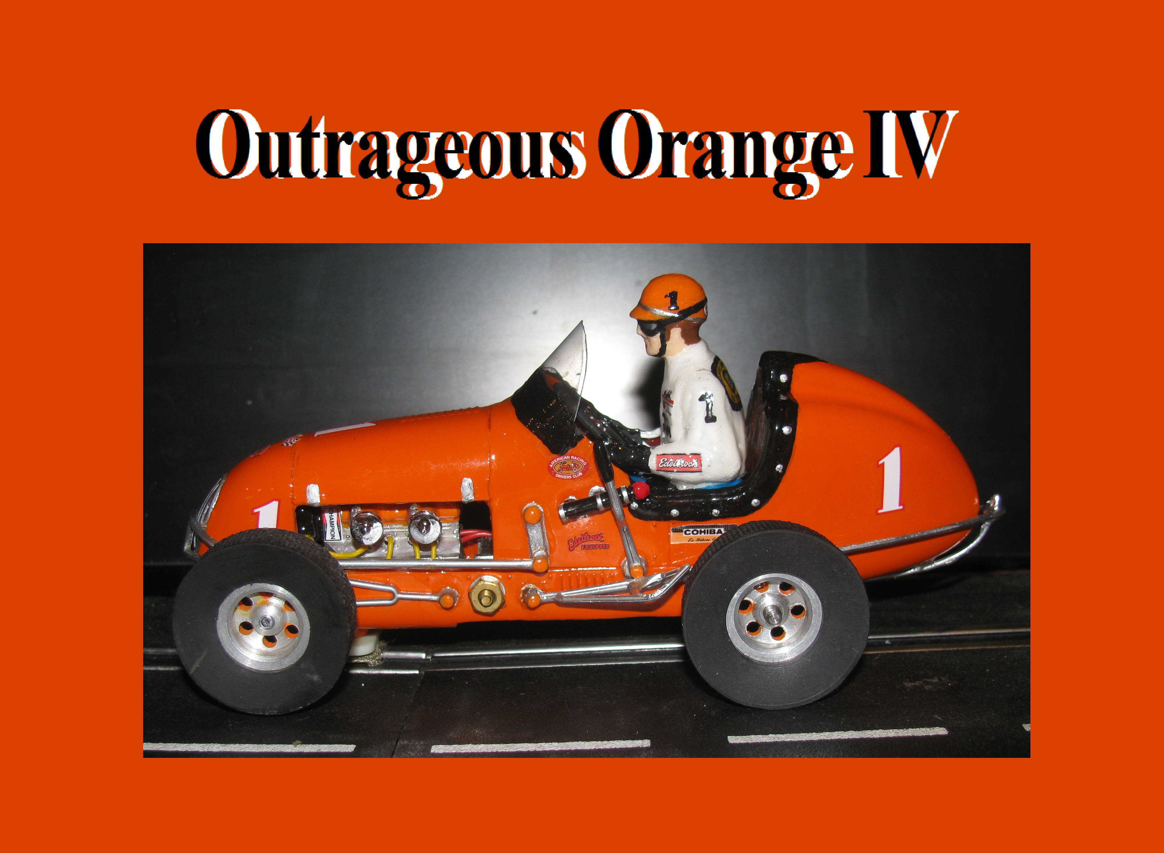 *SOLD* * SALE * Monogram Midget Kurtis Outrageous Orange IV Racing Special Slot Car 1