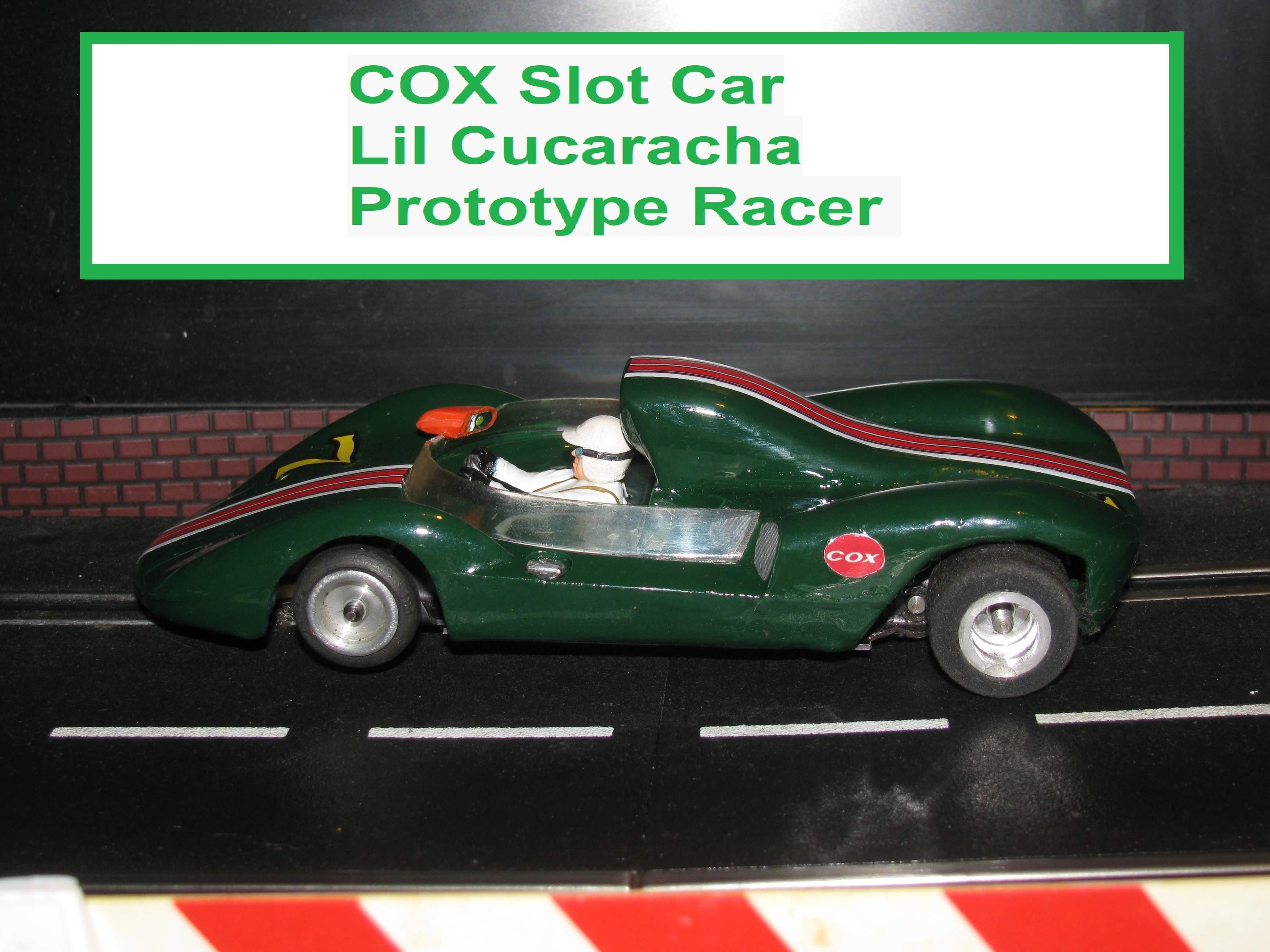 Vintage COX Lil Cucaracha Prototype Slot Car 1/24 Scale
