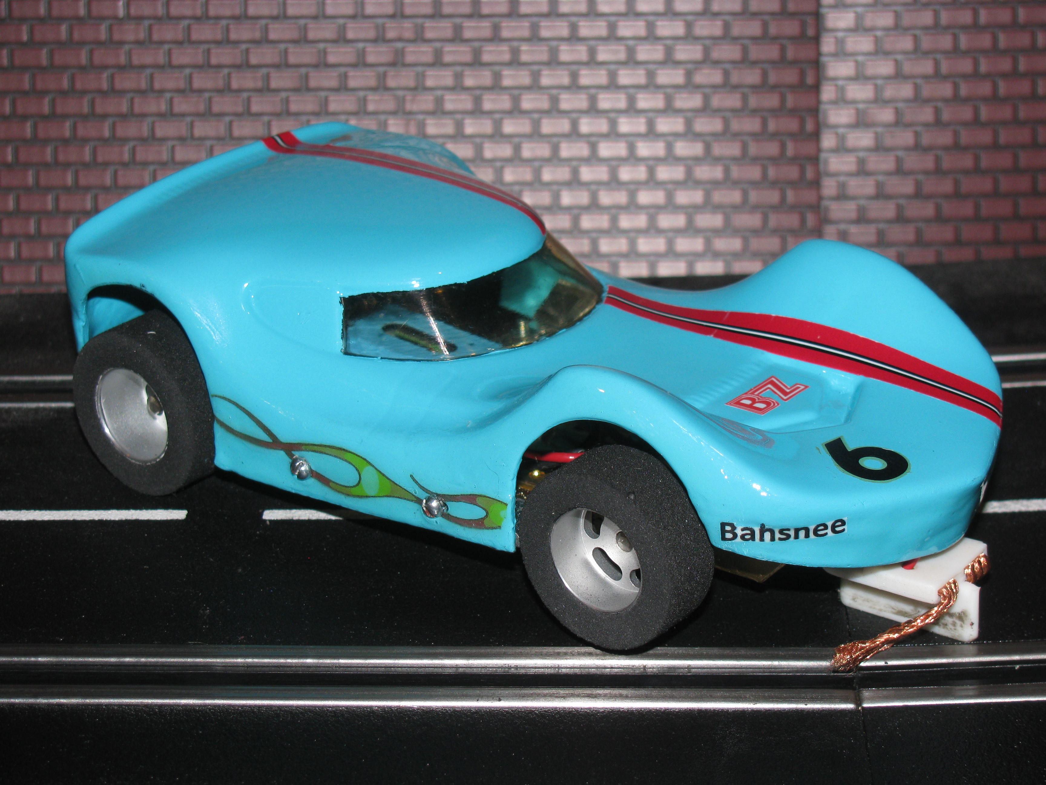 * SOLD * BZ Banshee with H&R Racing Chassis - Blue - Car 6 - 1/24 Scale