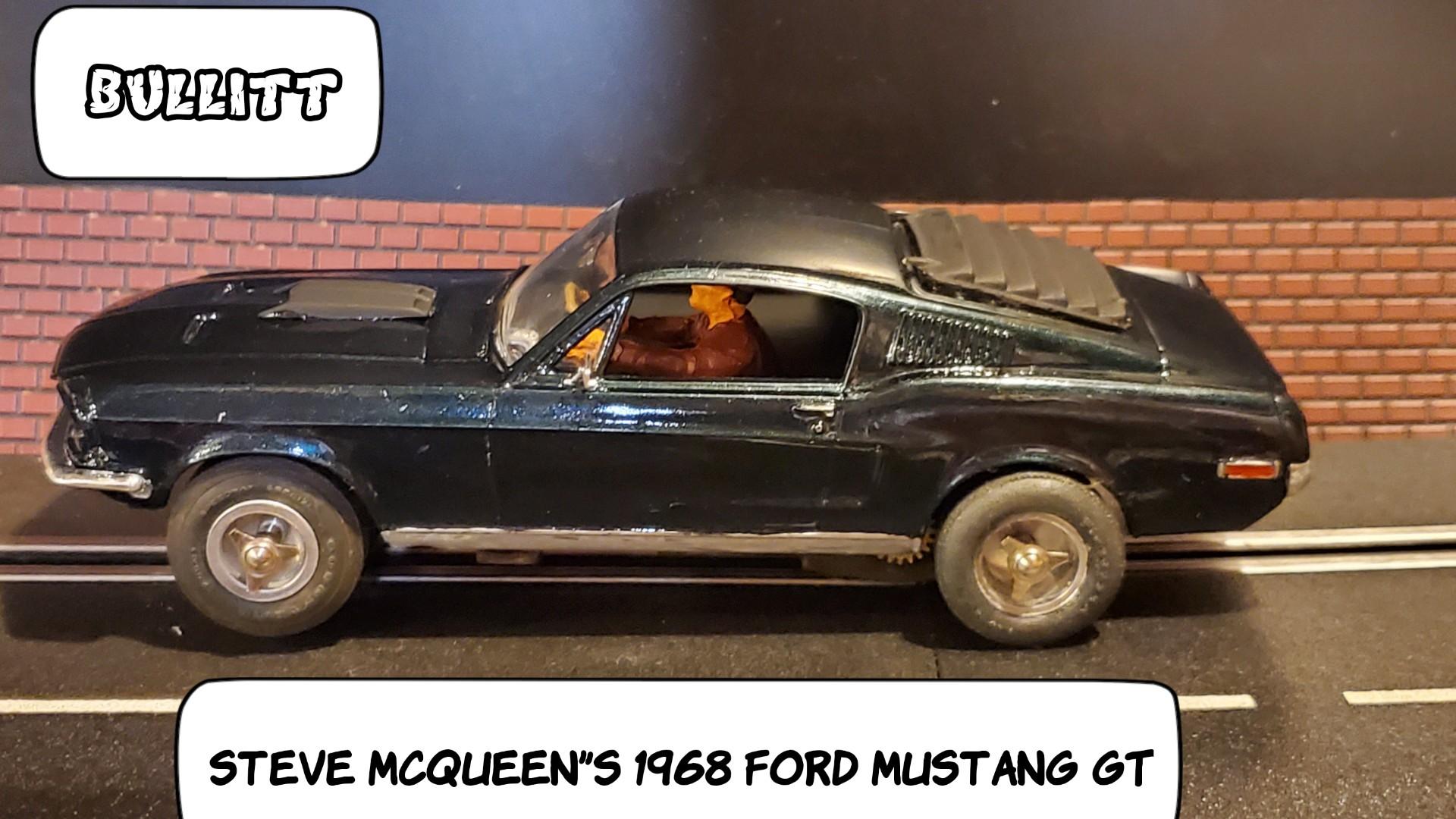 1968 Ford Mustang GT Steve McQueen's Bullitt Slot Car 1:24 Scale