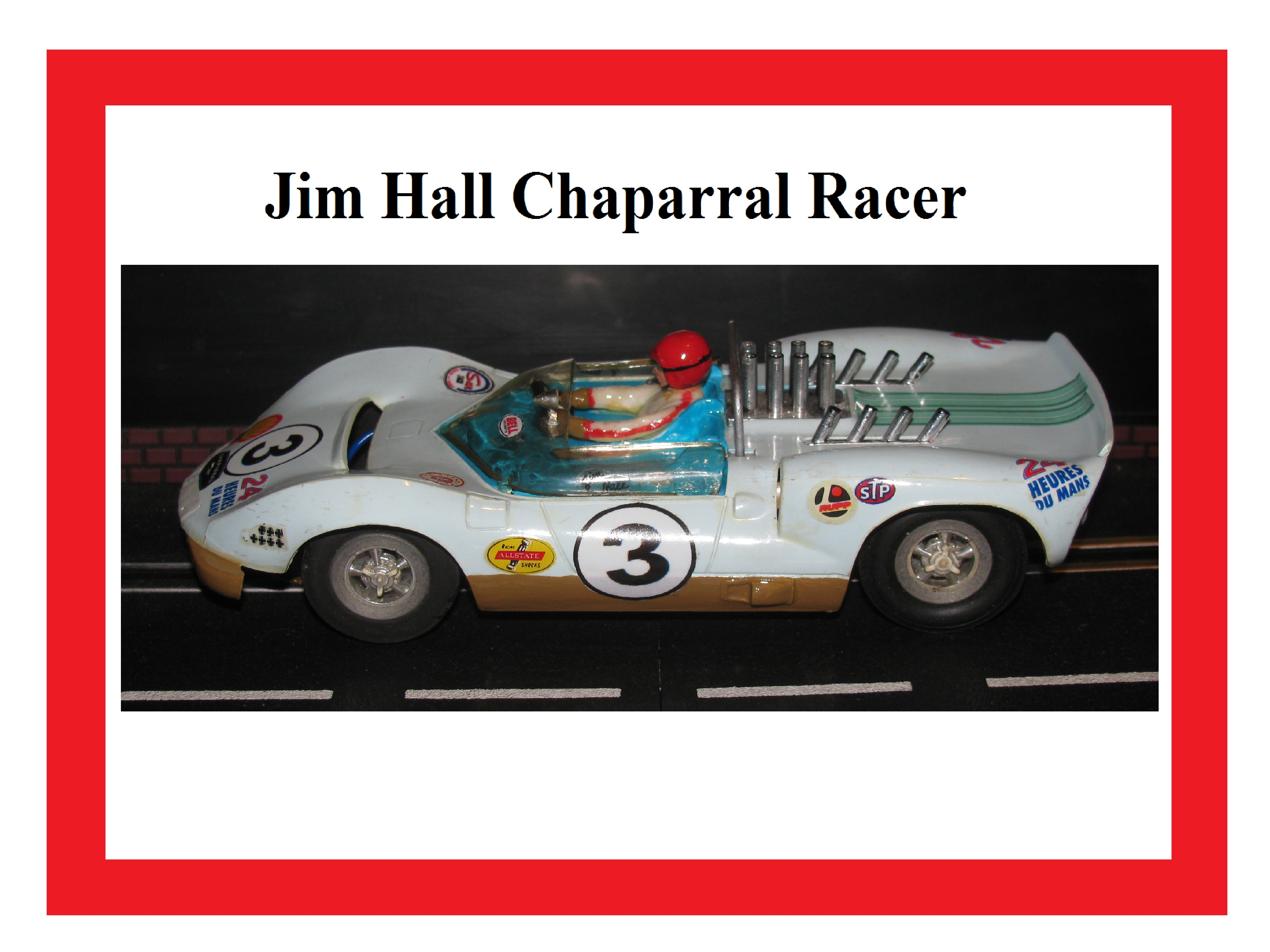 * SOLD * 1961 Jim Hall Chaparral Racer by Marx – 1/24 Scale