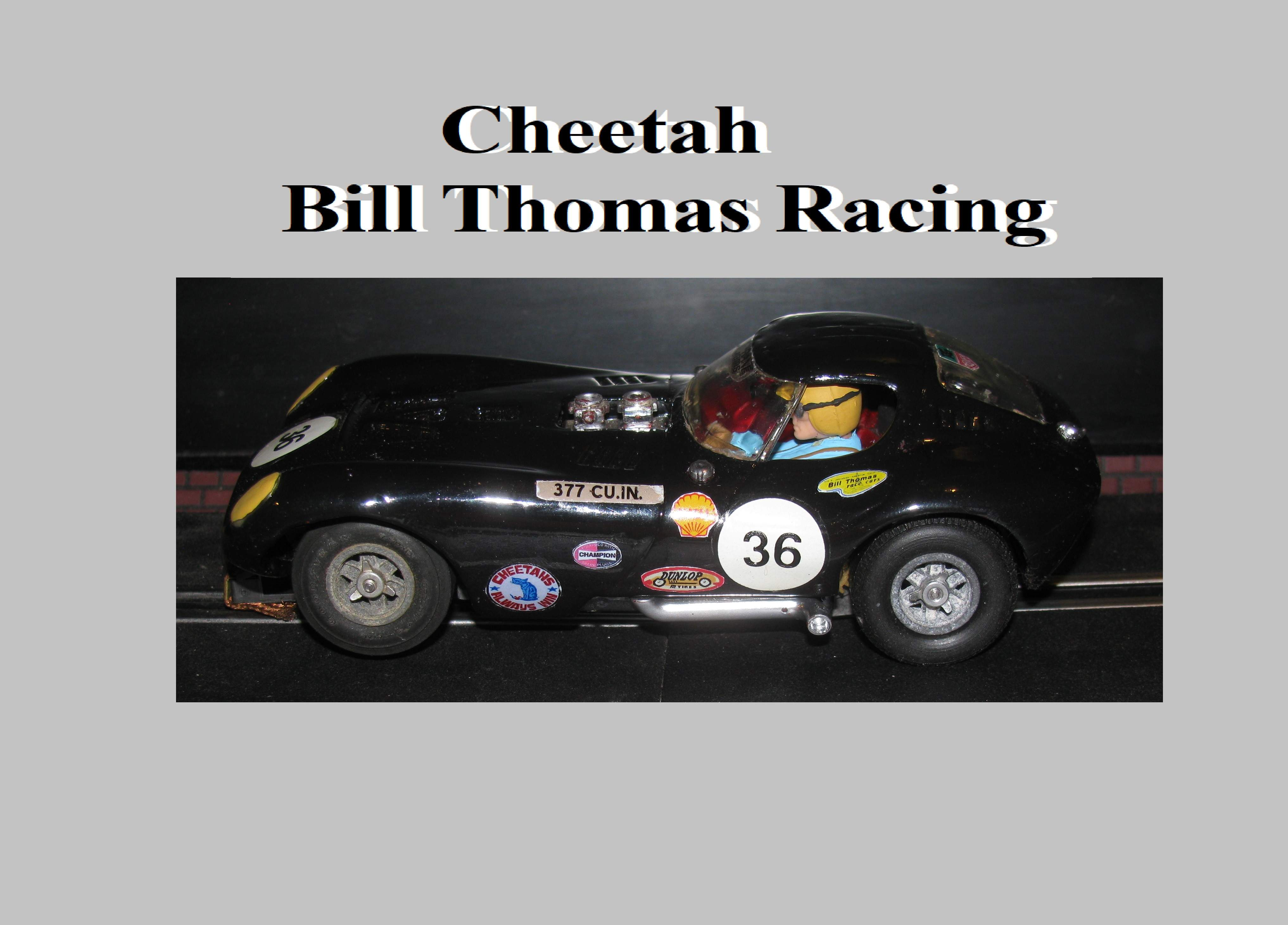 *SOLD* *HELD FOR CHRIS UNTIL 09-05-2020* * SUMMER SALE * Vintage Cox Cheetah Bill Thomas Racing Car #36