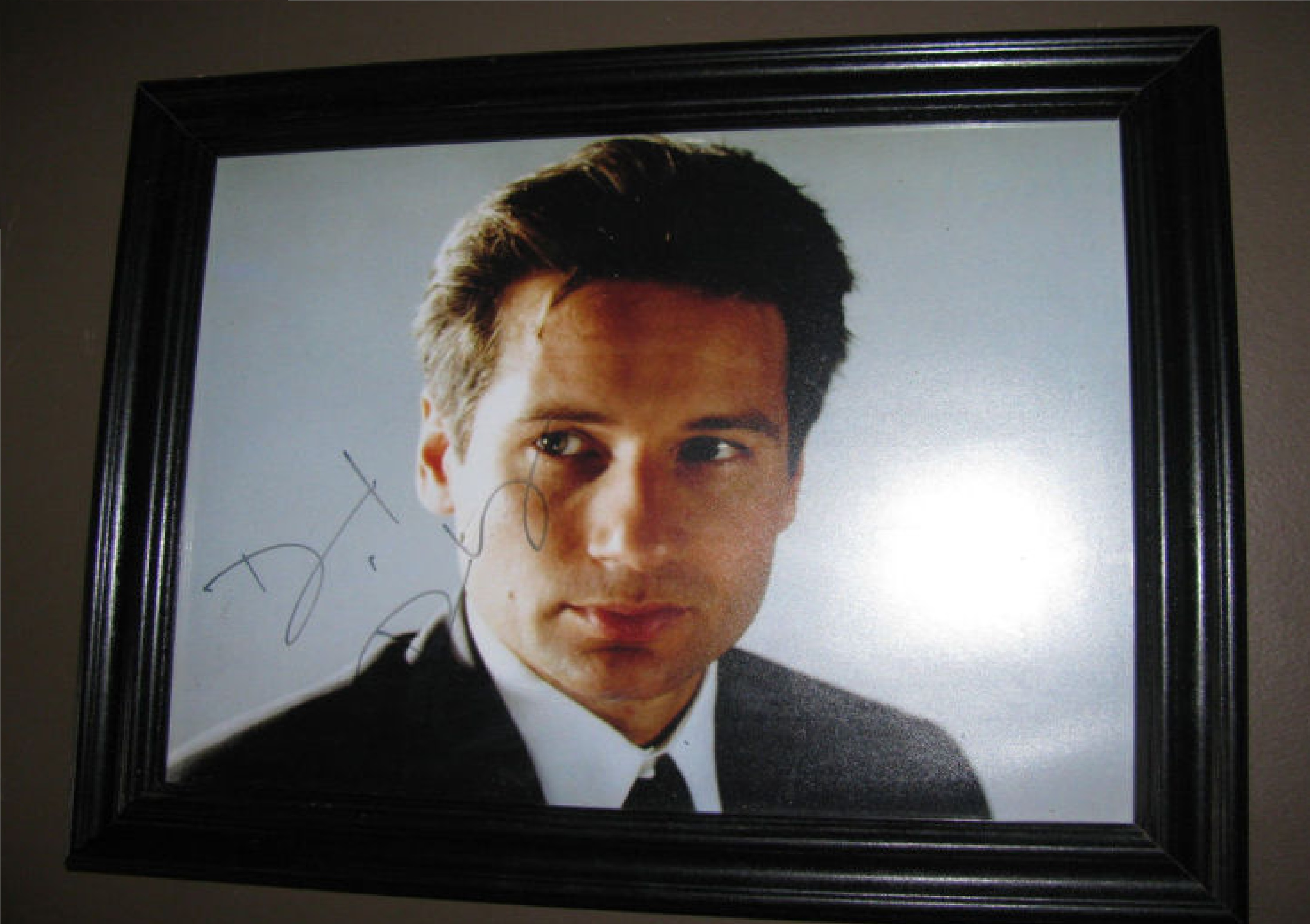 DAVID DUCHOVNY X-FILES SIGNED AUTHENTIC 8X10 PHOTO AUTOGRAPHED