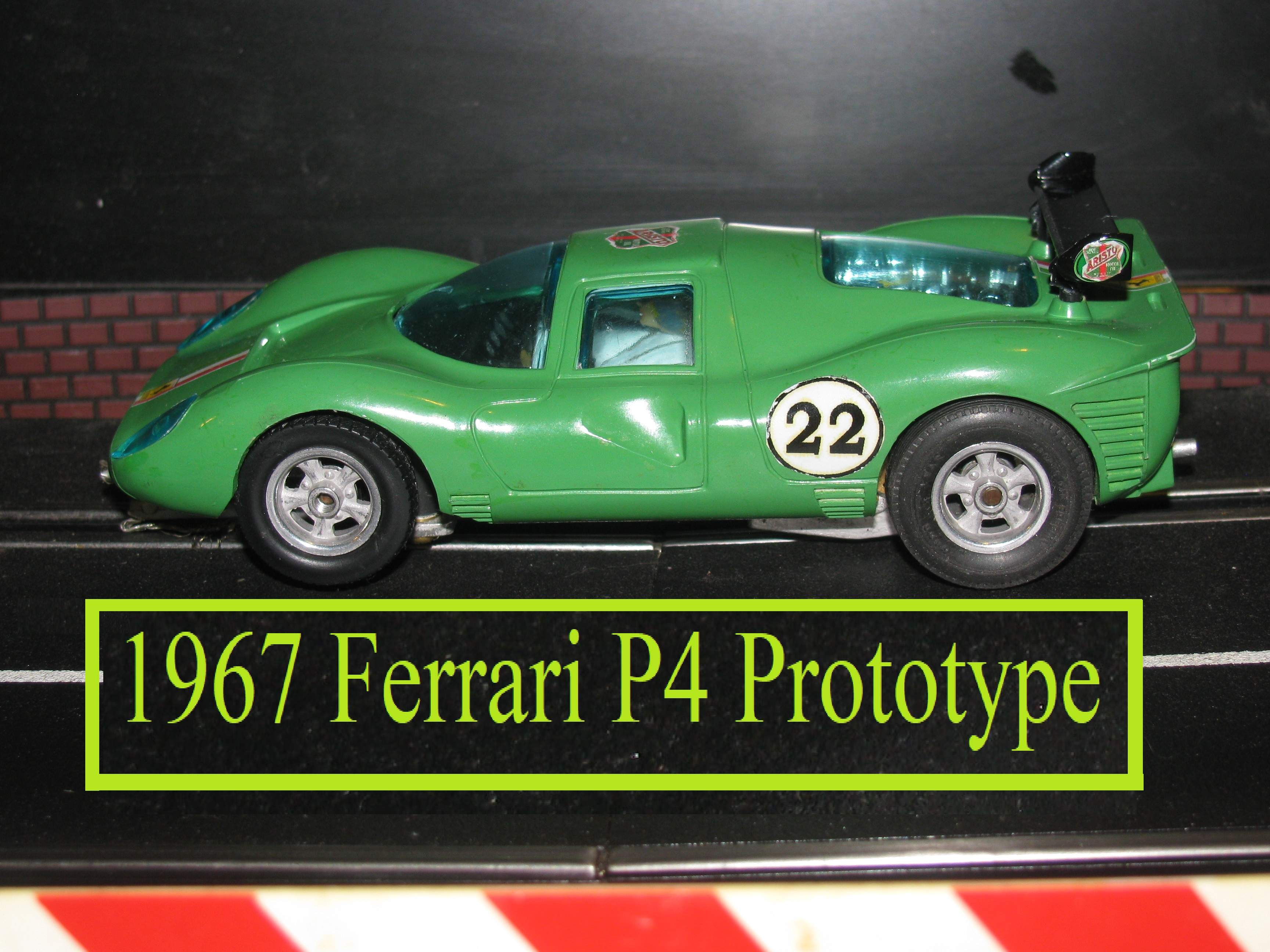*SOLD* Vintage 1967 COX Ferrari 330 P4 Prototype Slot Car 1/24 Scale