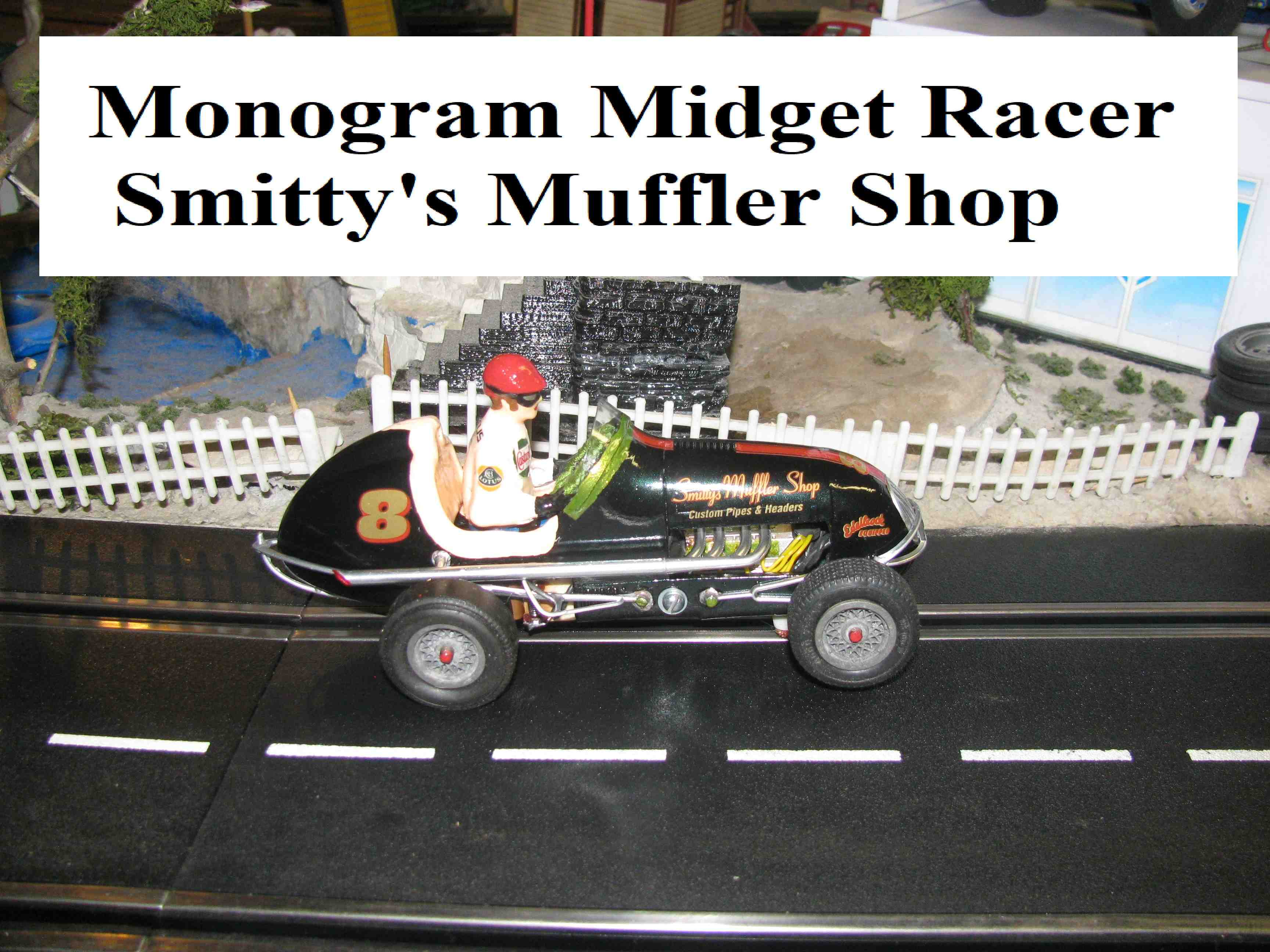 * Winter Super Sale * Monogram Midget Racer Land Cruiser Green Racing Special Slot Car 1/24 Scale (Land Cruiser Green Metallic)