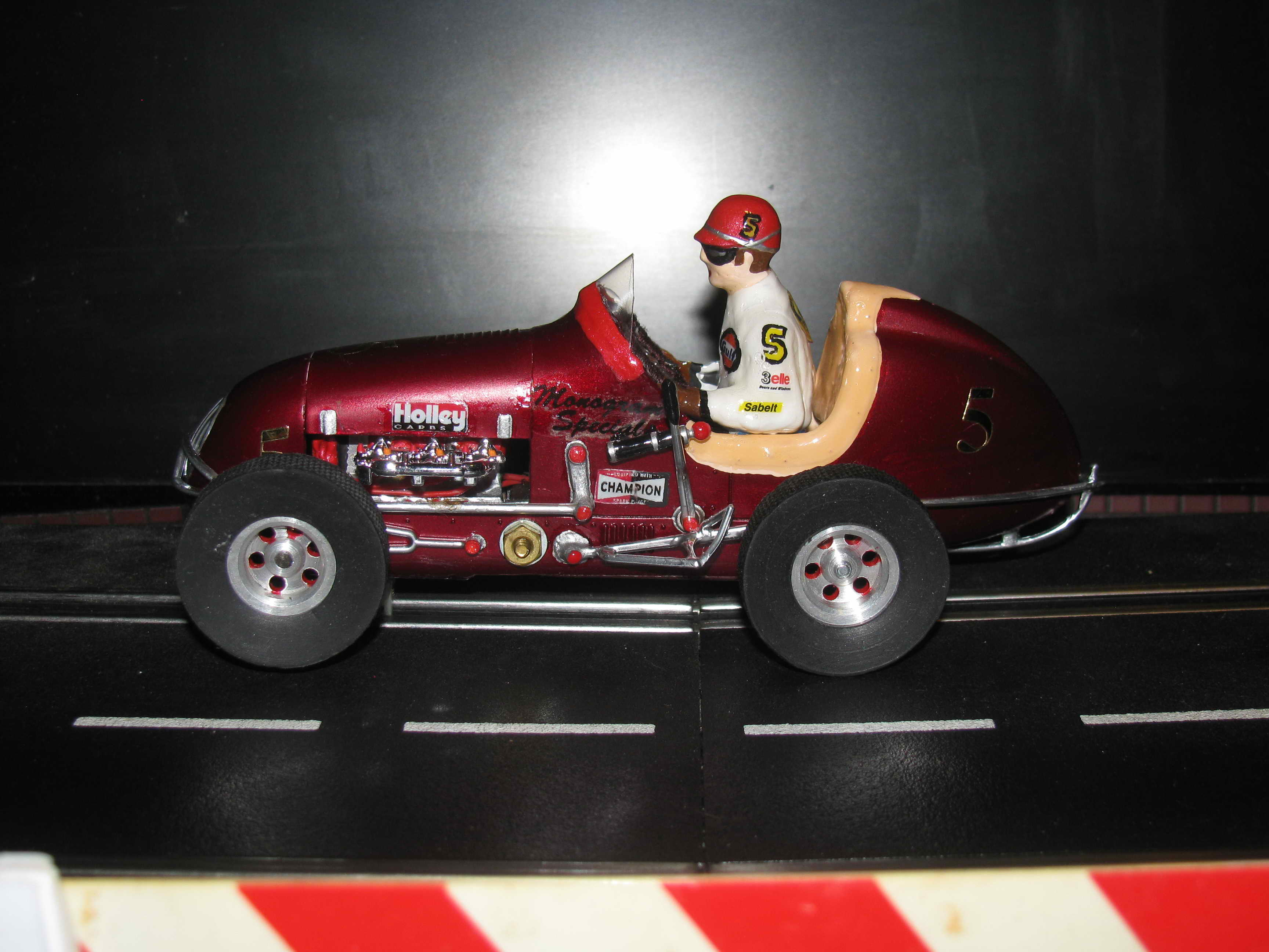 * SOLD * Monogram Midget Kurtis Ruby Red Racing Special Slot Car 5