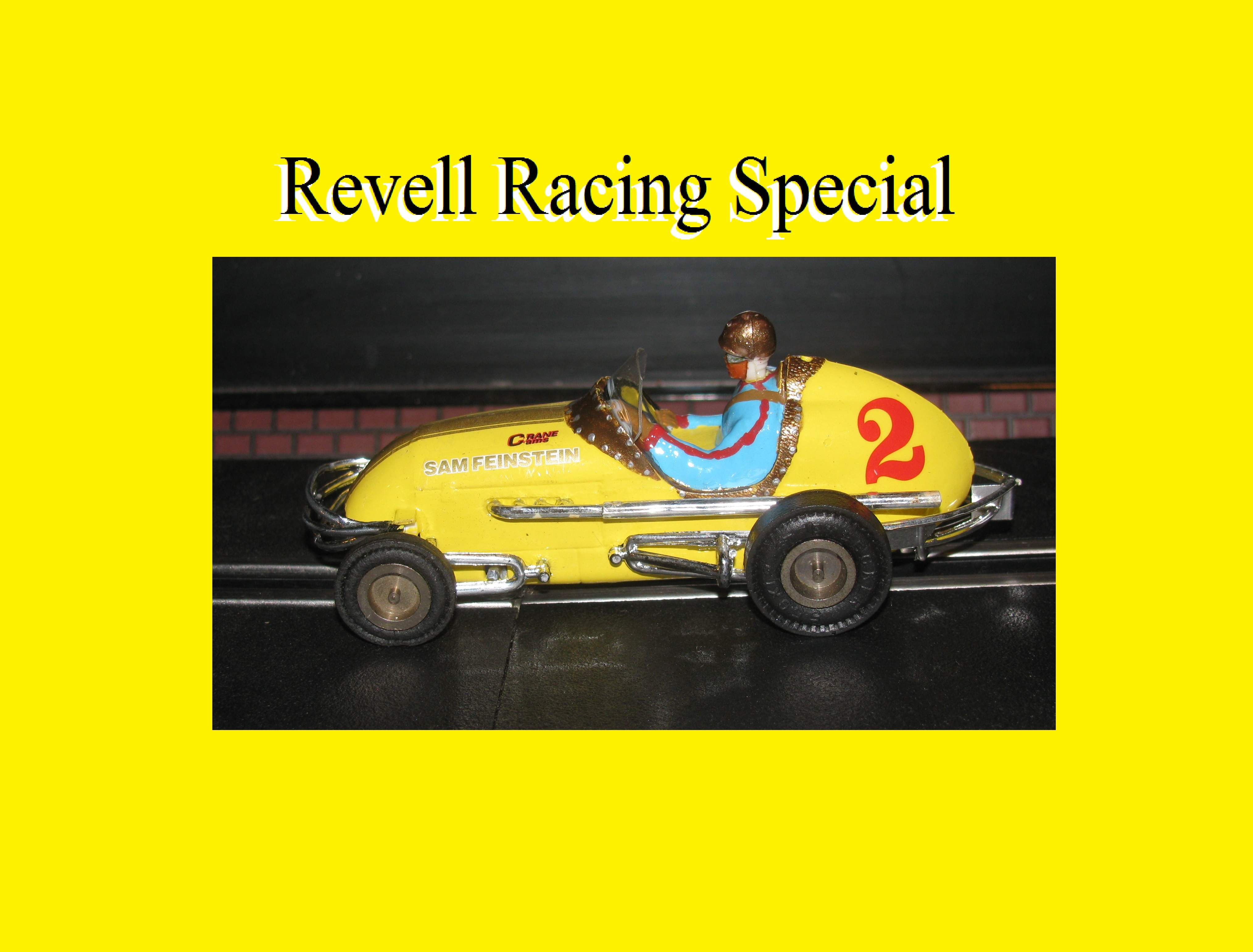 * SOLD * * FOR CHARLES E. ONLY * Revell Midget Racer Yellow Lightening Mini Racing Special Slot Car 1:32 Scale