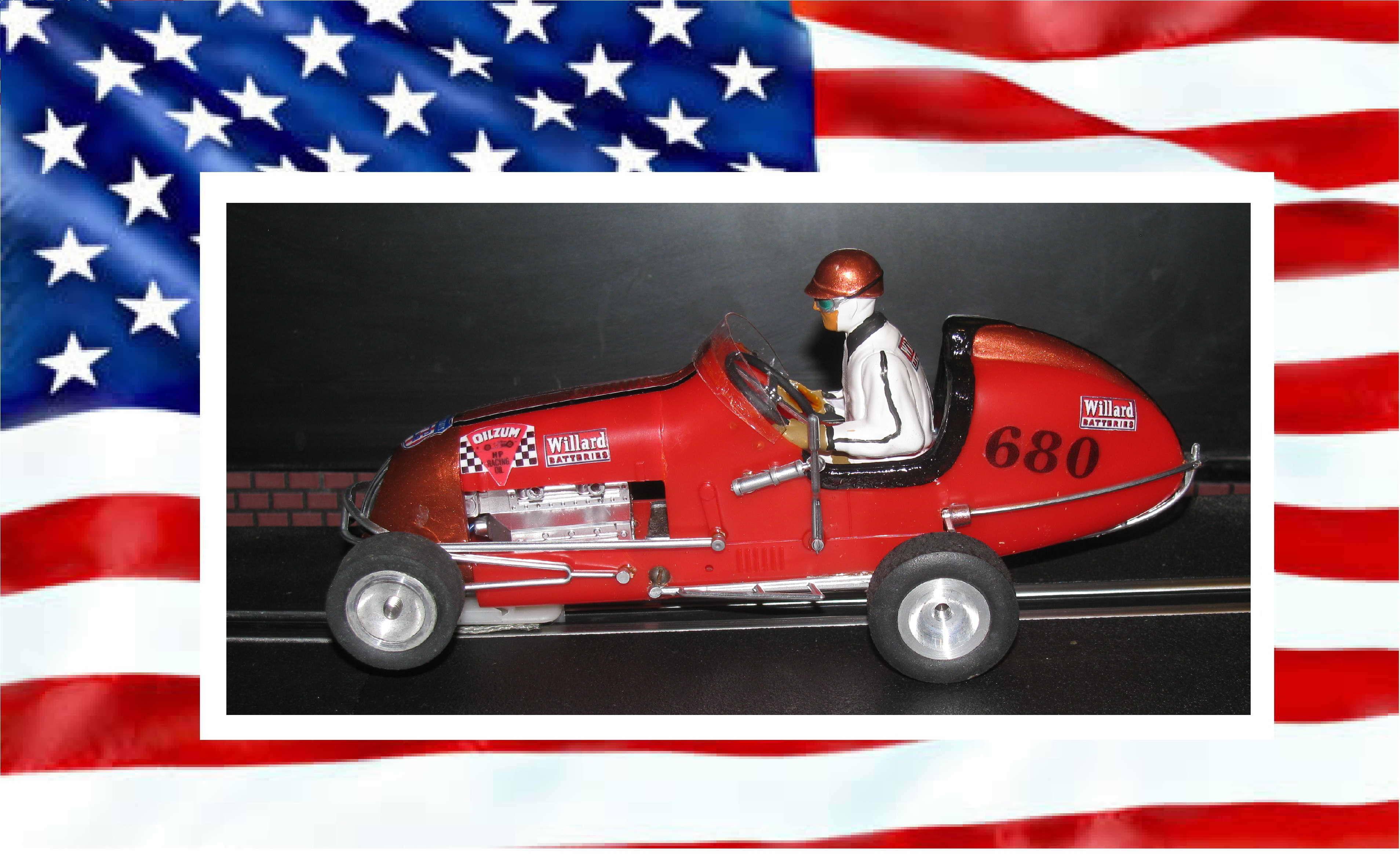 *SOLD* Monogram Midget Racer Willard's Wizard Slot Car #680