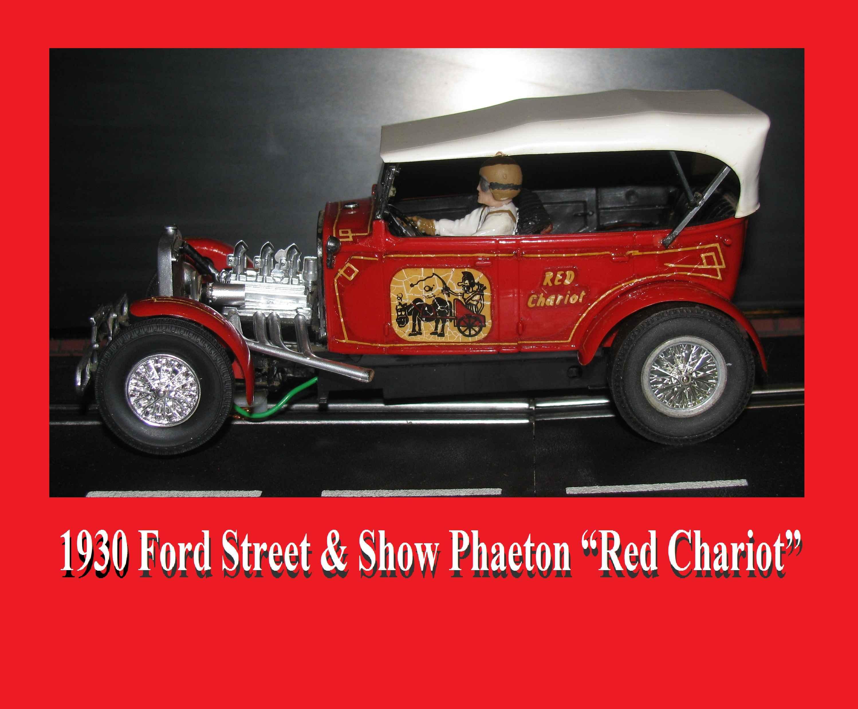 "* Sale * 1930 Monogram Ford Street & Show Phaeton ""Red Chariot"" Slot Car 1:24 Scale"