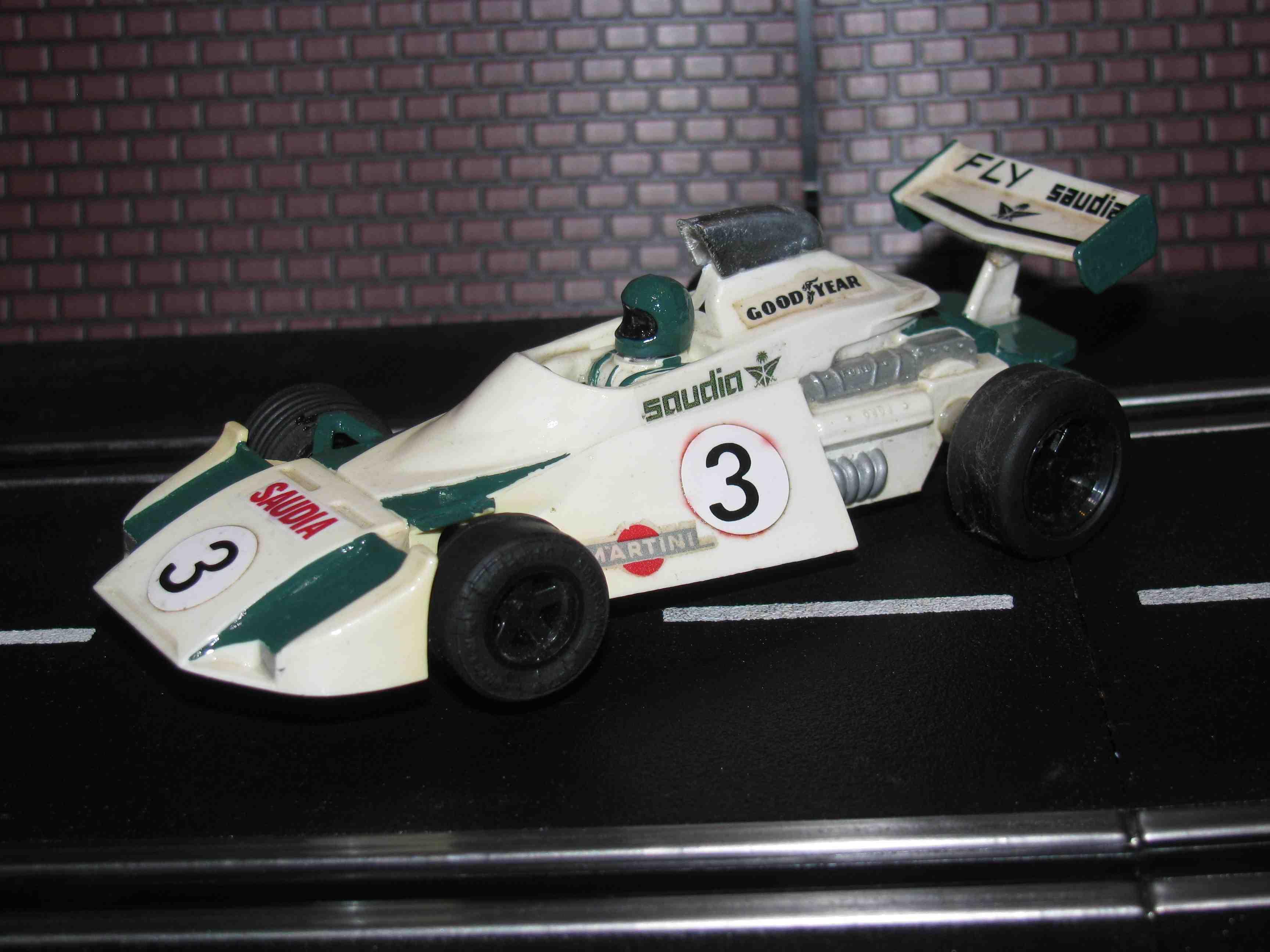 * SOLD * SCX 1977 BRM Formula 1 Slot Car 1/32 Scale – Car 3