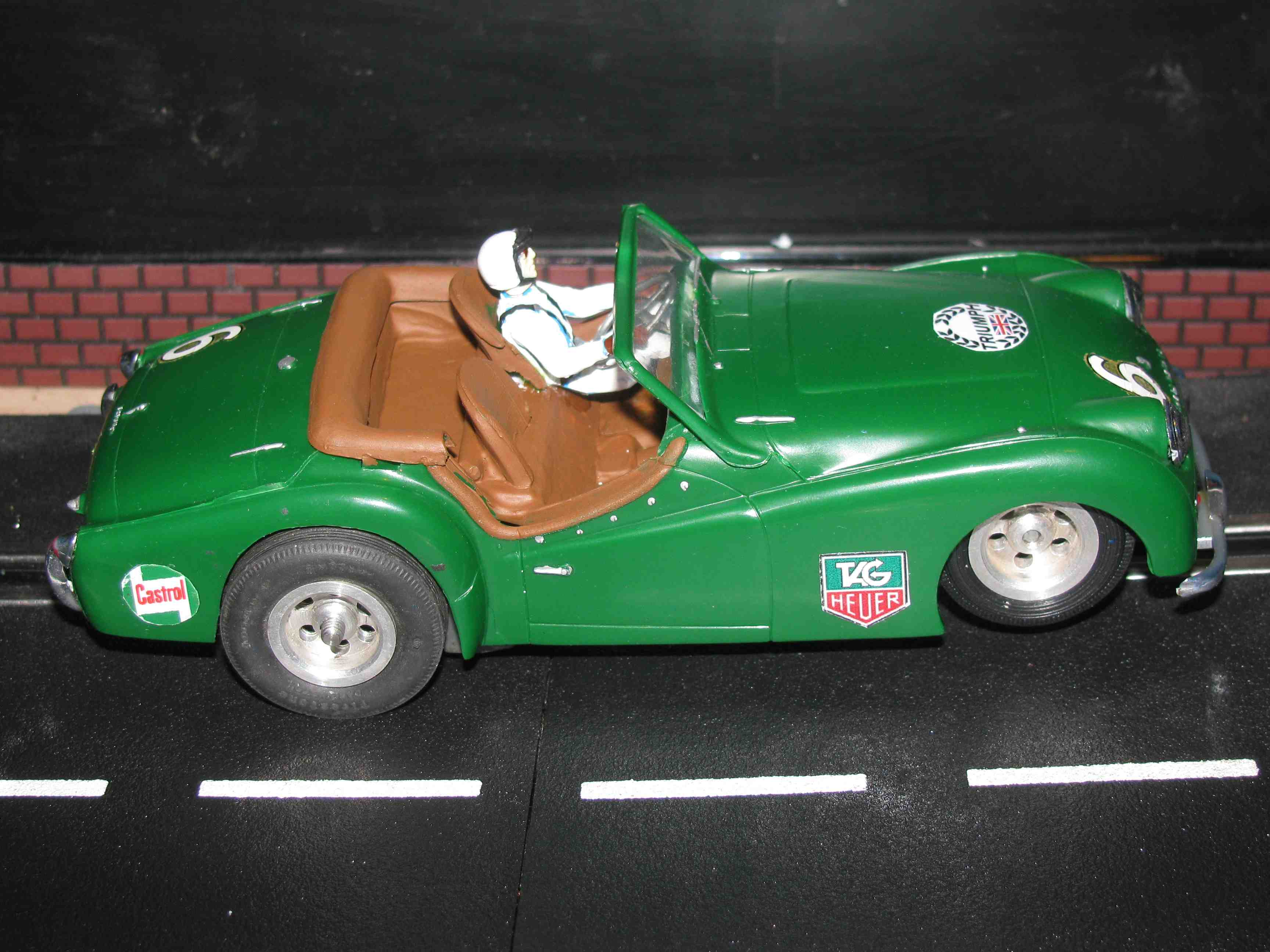 * SOLD * Vintage 1961 Triumph TR3 Overdrive Slot Car 1/24 Scale