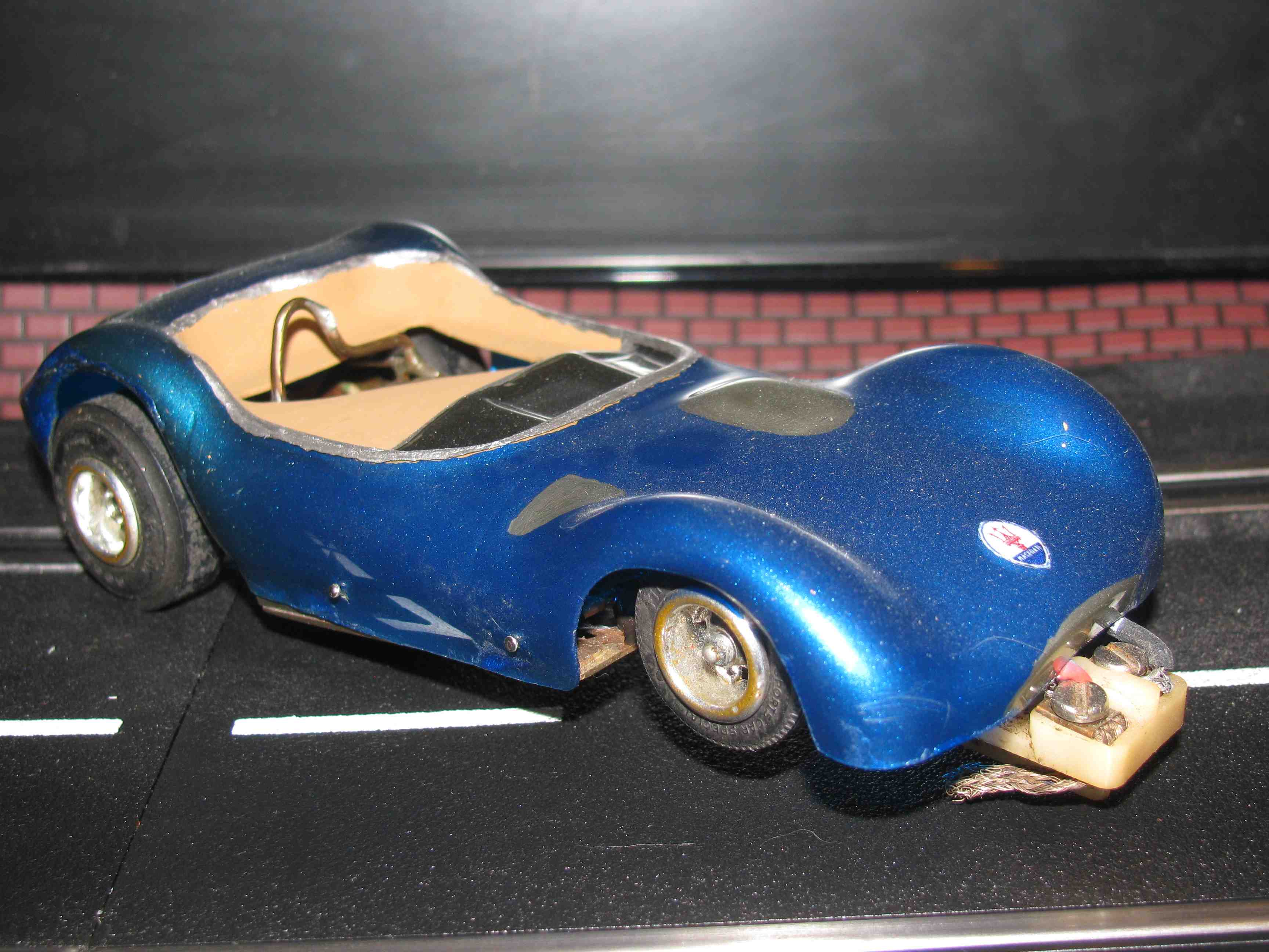 *SOLD* Vintage Maserati Birdcage - Slot Car - 1/32 Scale – Brass Chassis (Metallic Blue Paint)
