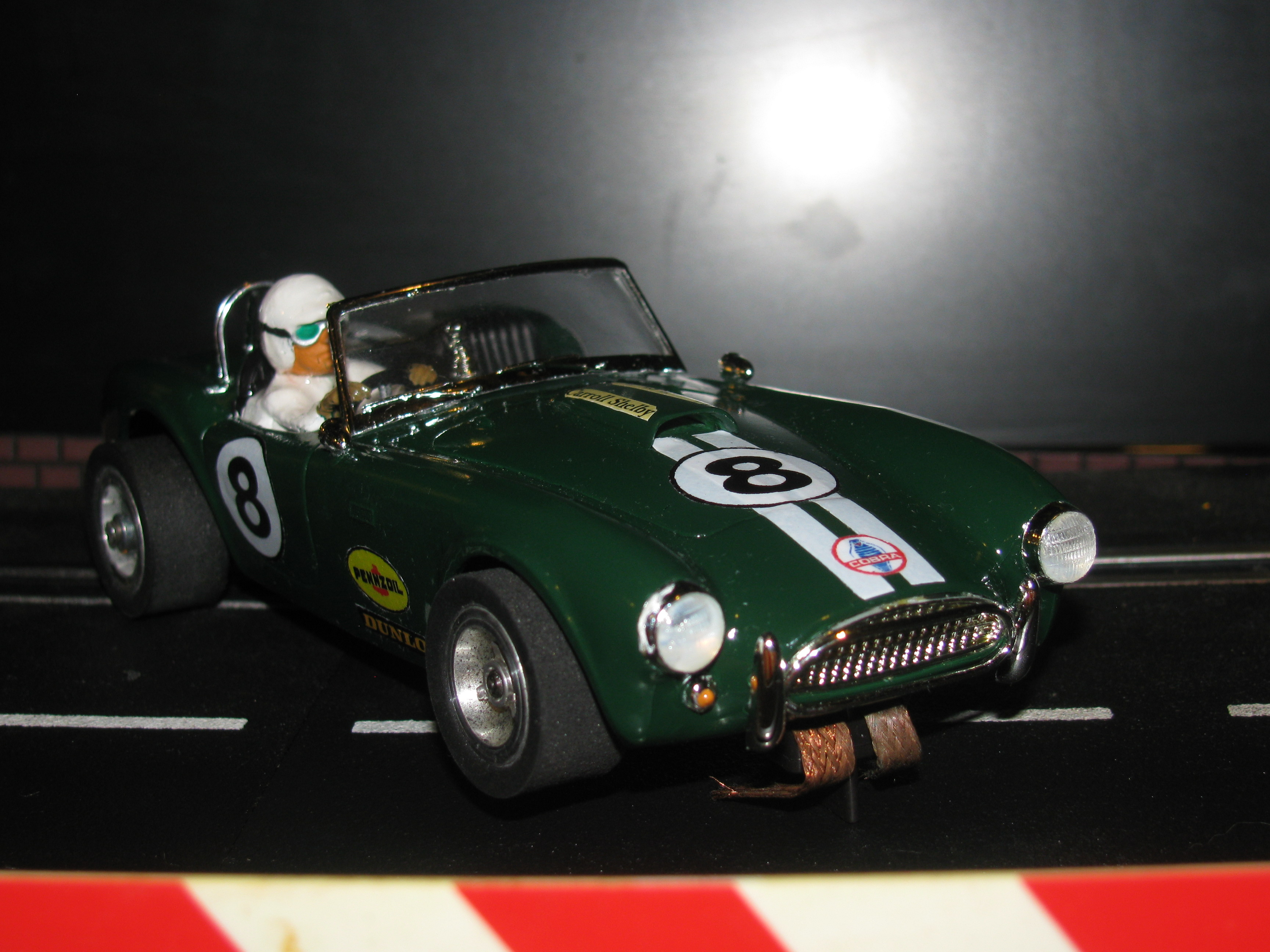 *SOLD* Vintage Shelby Cobra Roadster Racing Special Slot Car, Car 8 in 1/24 Scale