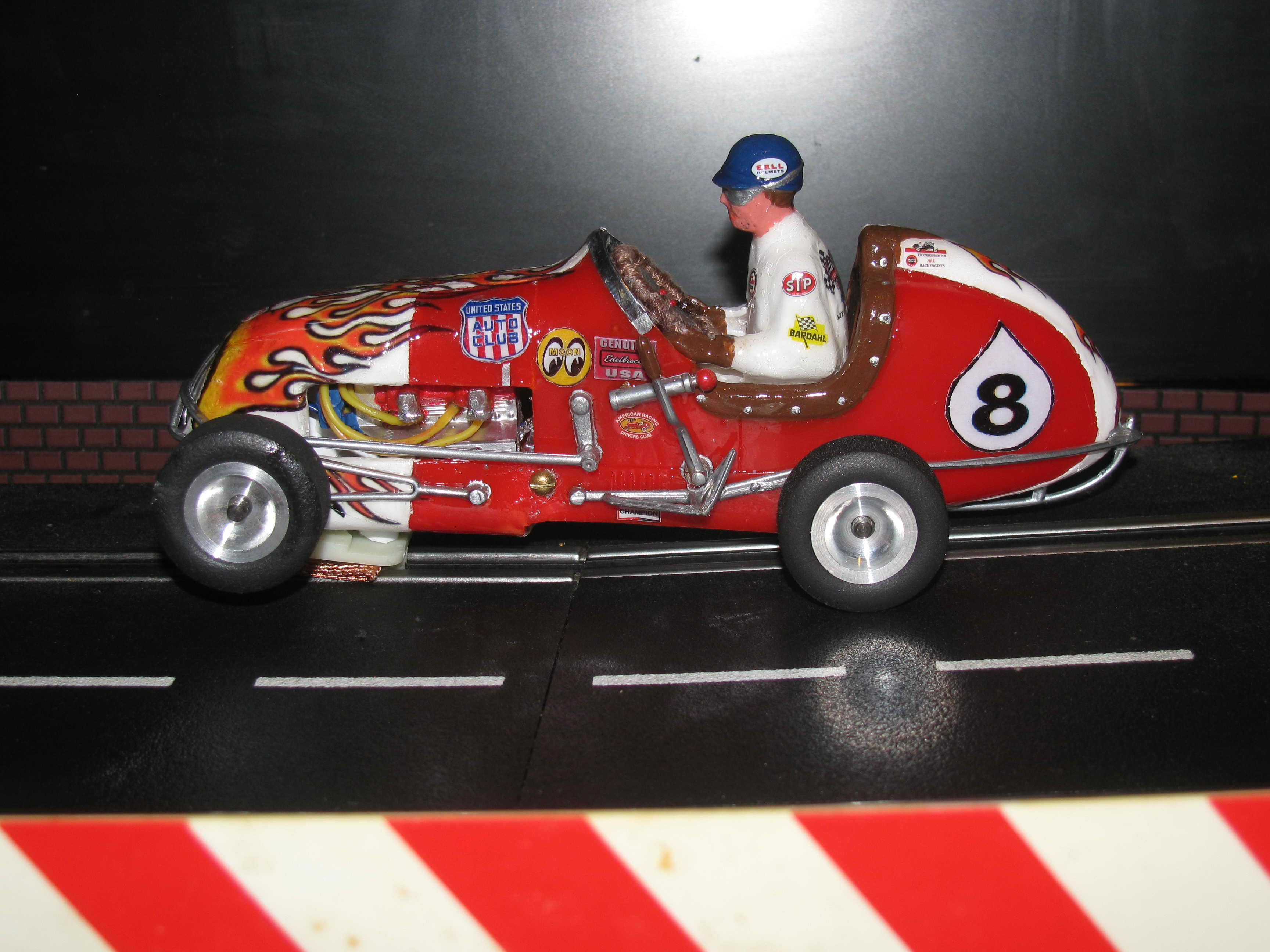 "*SOLD* - Monogram ""Flamin Hot Rod"" Midget Racer Slot Car - Car 8"