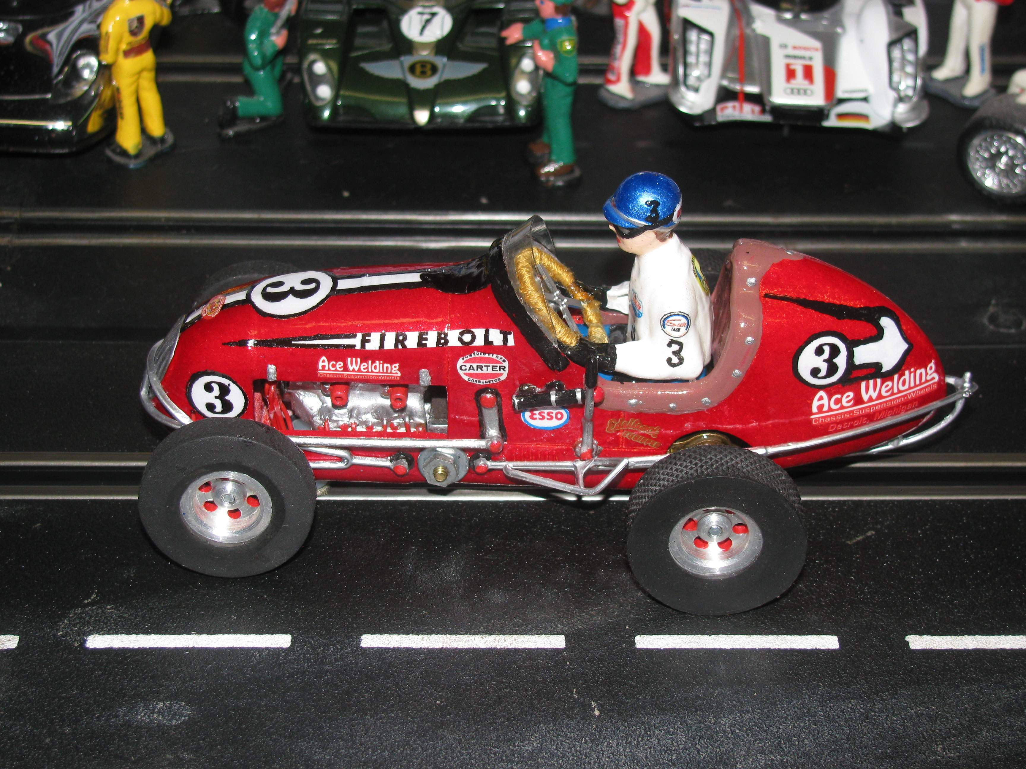 * SOLD * * SALE ENDS SUNDAY * Monogram Midget Racer Inferno Red Firebolt Racing Special Car 3 1:24 Scale