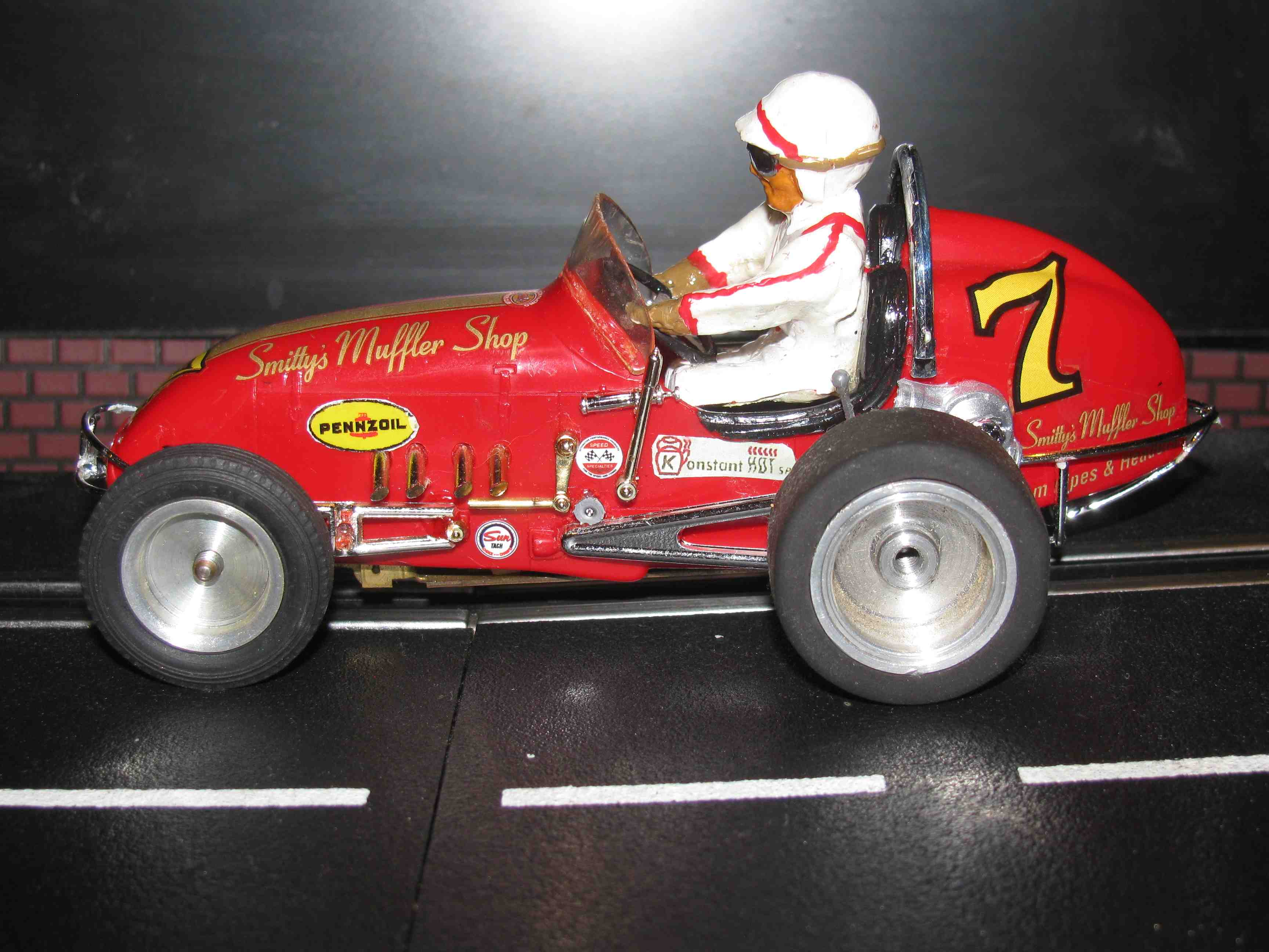 * SOLD * Vintage Monogram Midget Racer with Brass Comp Chassis Slot Car 1/24 Scale