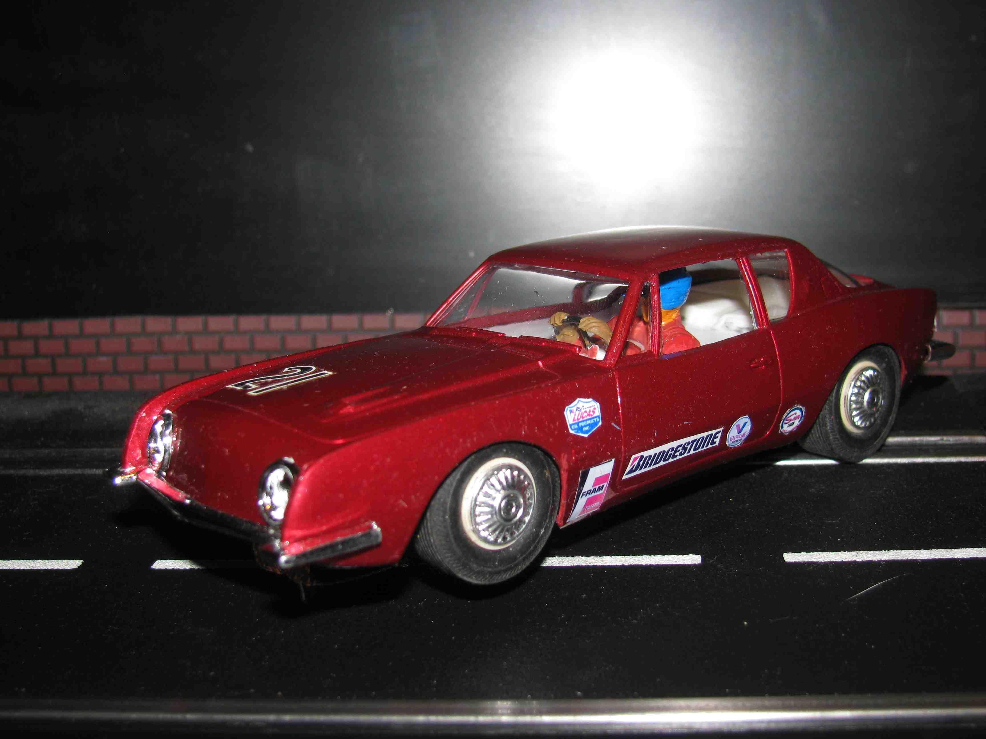 * SOLD * Vintage Revell Studebaker Avanti Slot Car 1/32 Scale – Car 21