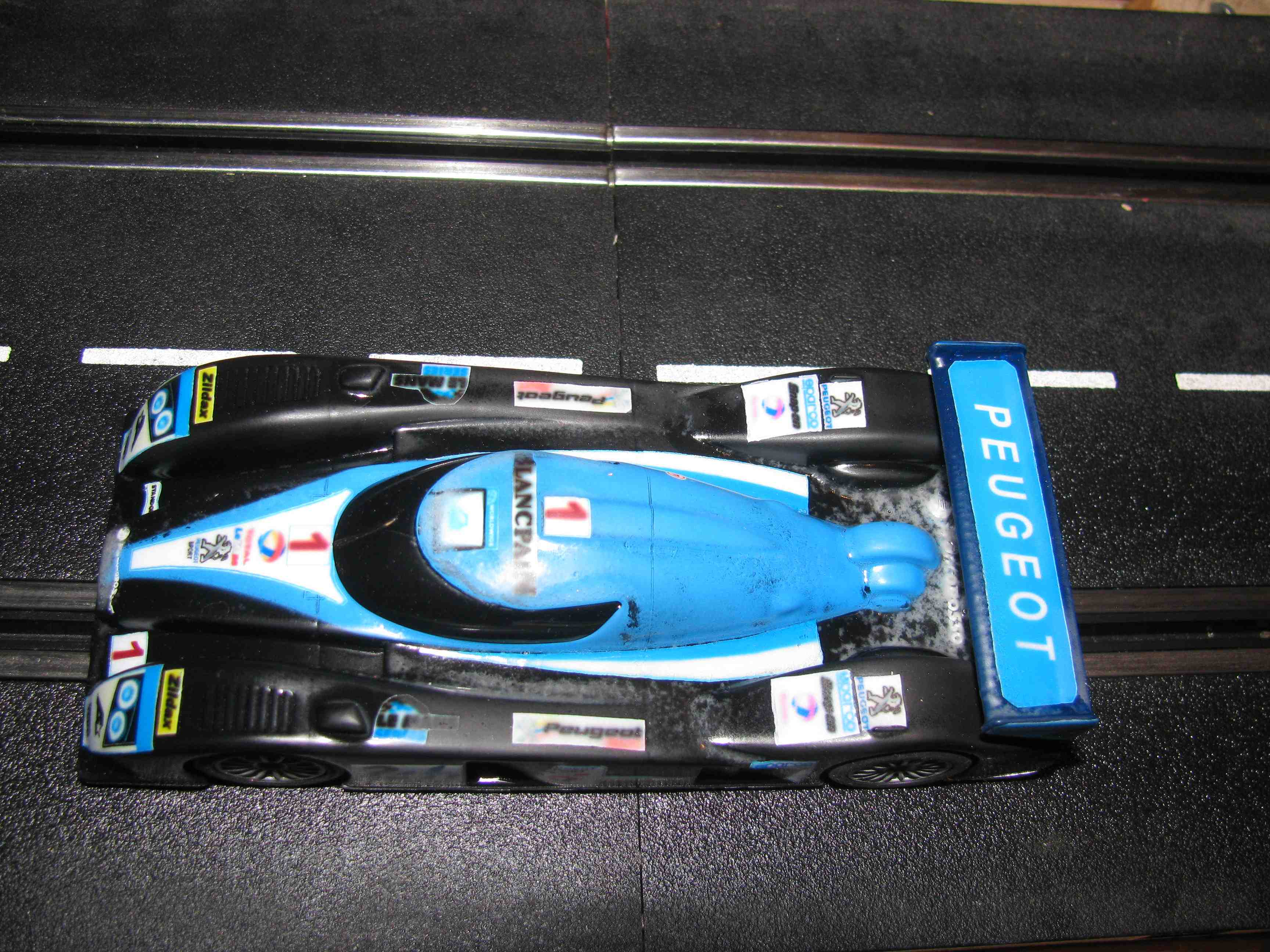 * SOLD * Hornby/SCX Peugeot LeMans LMPT Slot Car Racer 1/32 Scale – Car 1