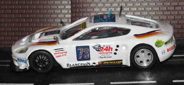 * SORRY SOLD* Hornby Aston Martin DBRS GT3 Nurburgring Edition Slot Car - 1/32 Scale