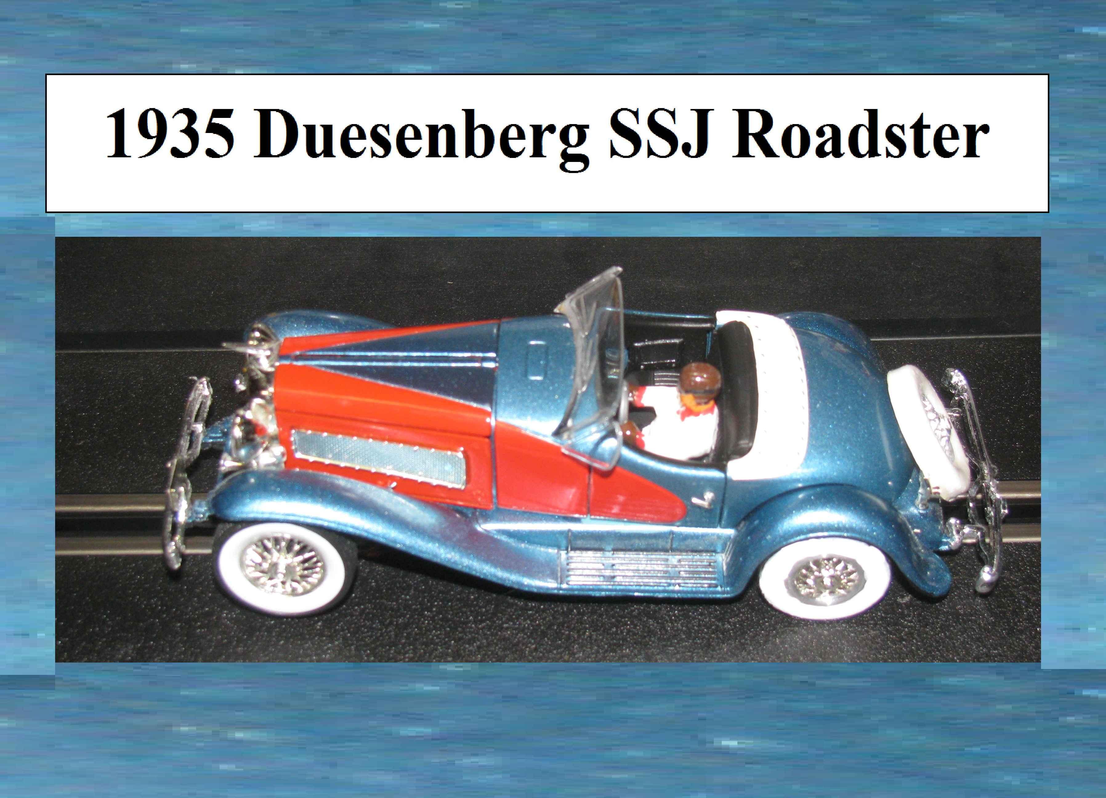 * Sale * 1935 Duesenberg SSJ Roadster 1:32 Scale Slot Car