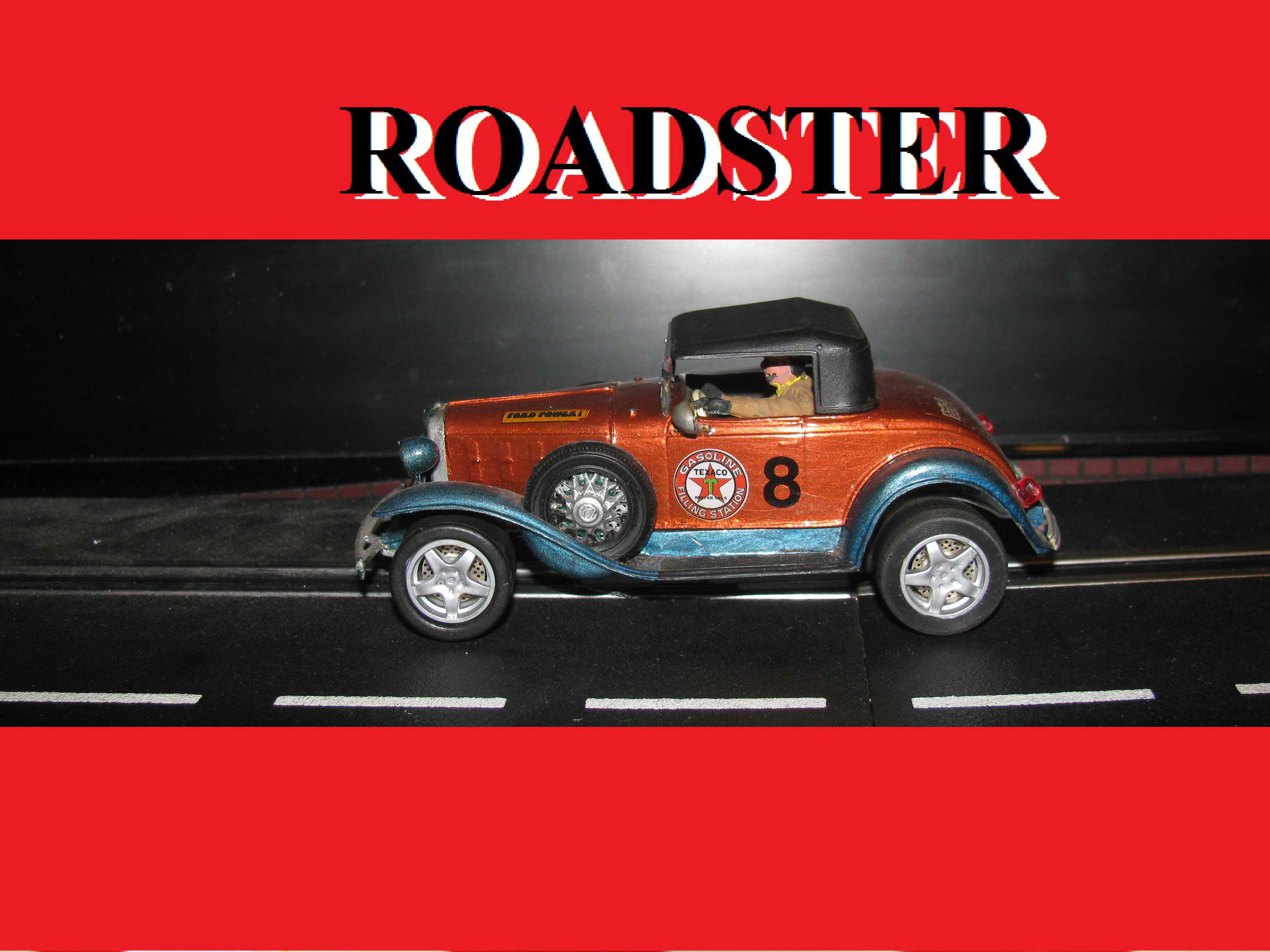 Custom Jalopy Roadster with Driver – Two-Tone – 1/32 Scale