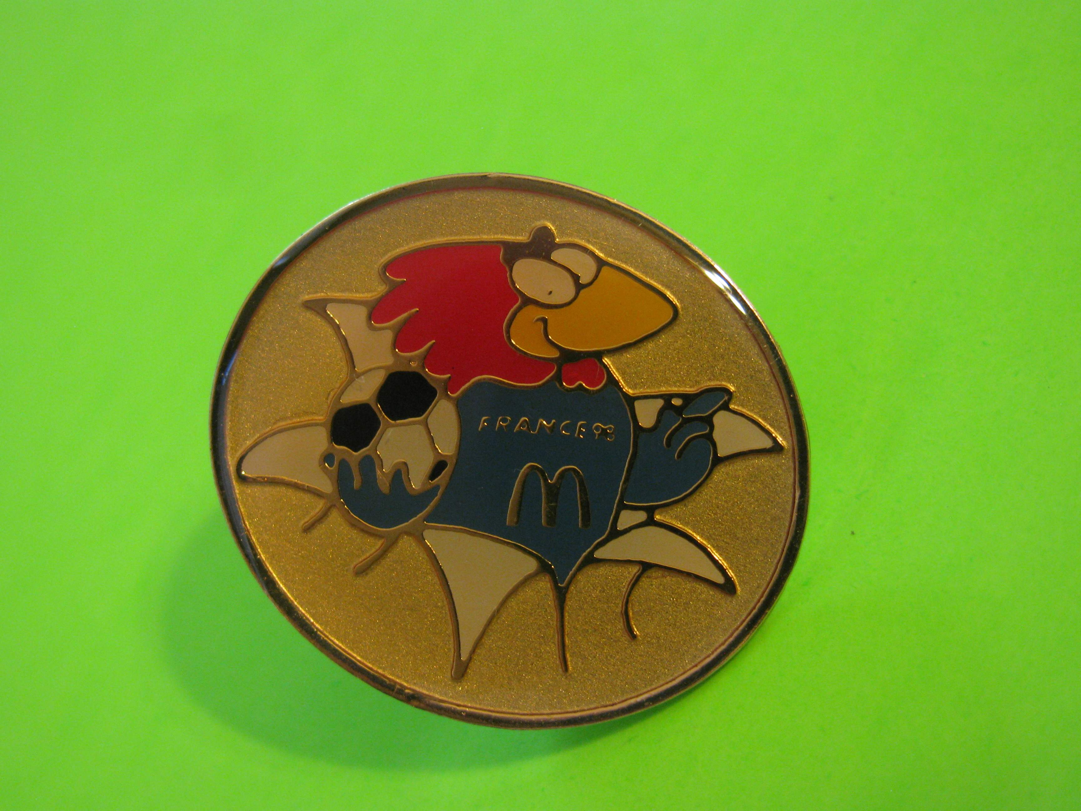 Vintage 1998 France Soccer McDonald's Promo Pin with Butterfly Clutch