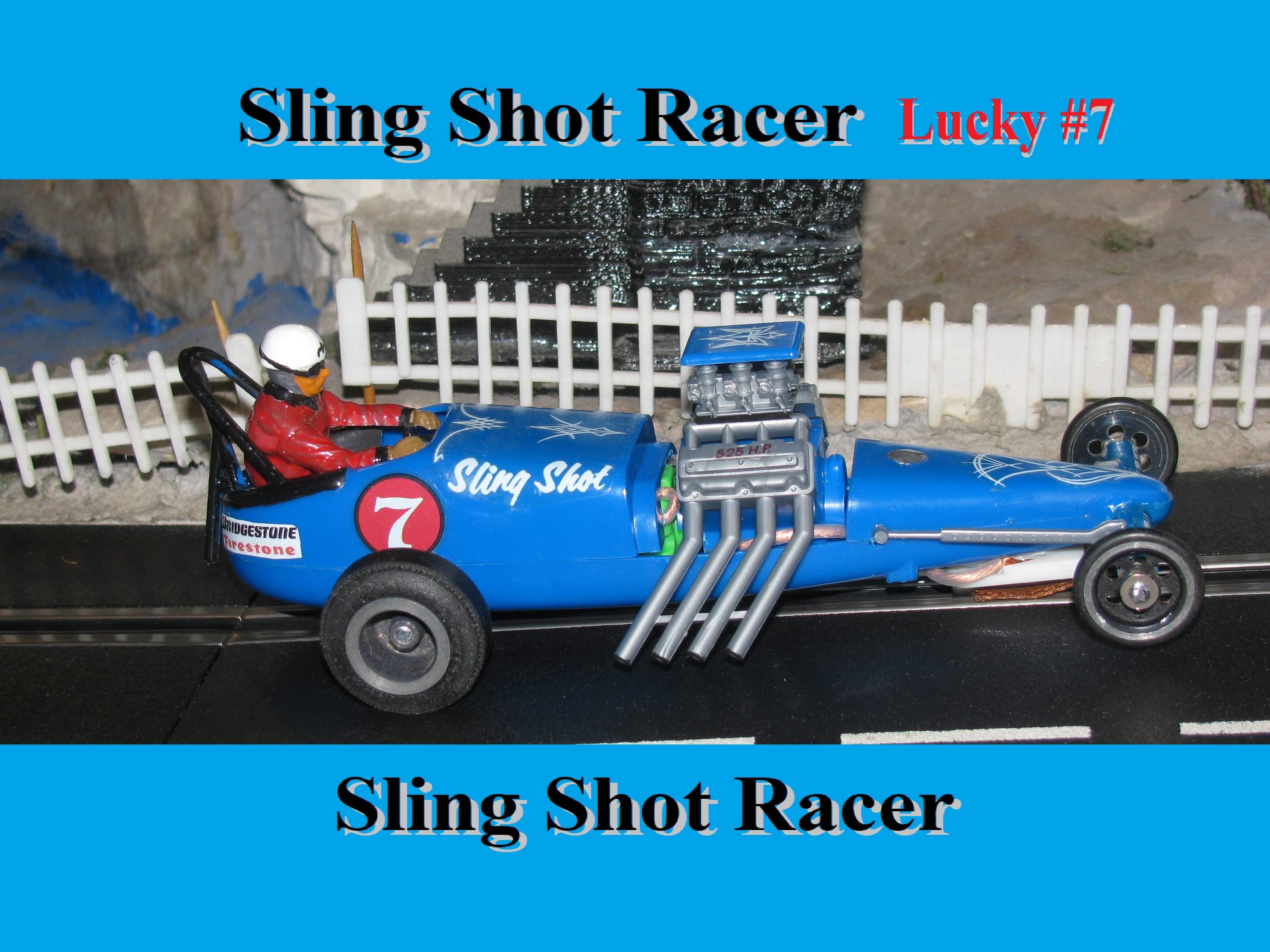* Winter Super Sale * Monogram Sling Shot Dragster #7 Slot Car 1/24 Scale Lucky #7