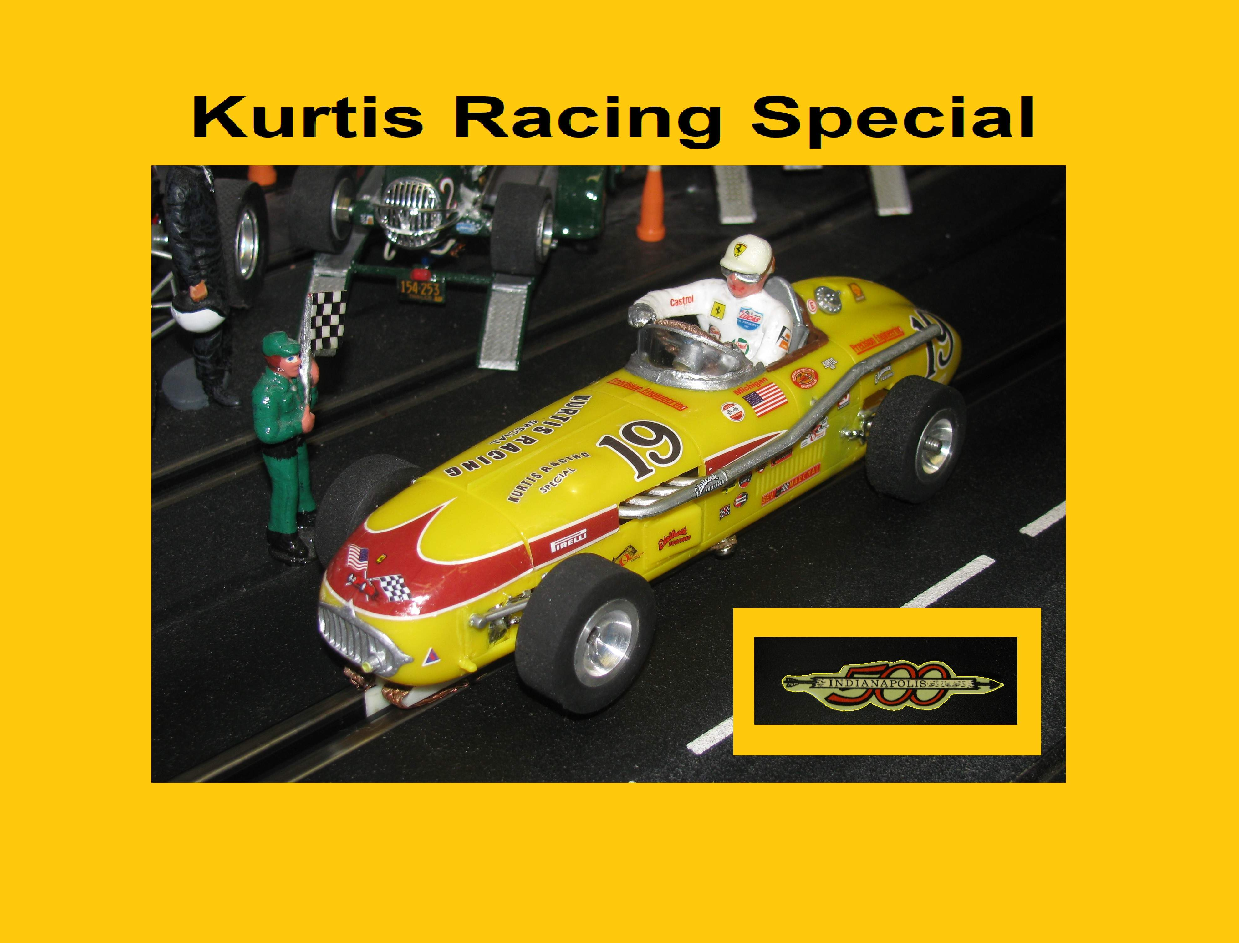 *SOLD* Monogram Kurtis Racing Special Indy 500 Slot Car Racer #19