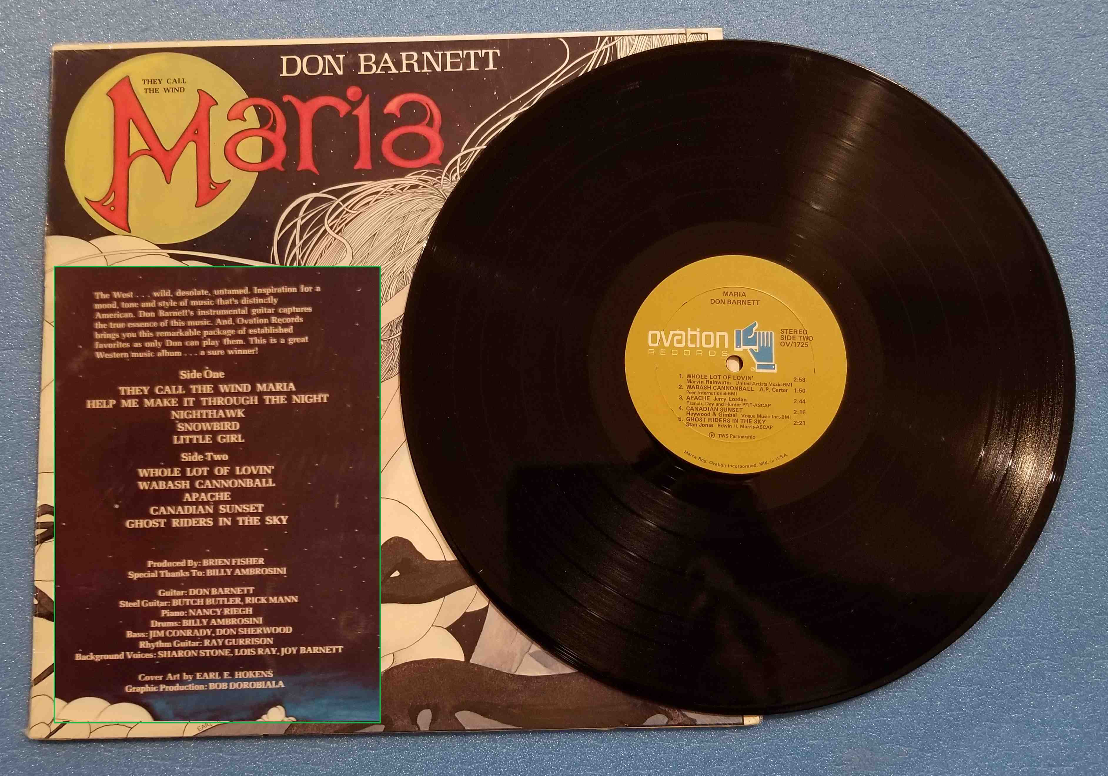 Don Barnett They Call The Wind Maria (LIKE NEW)