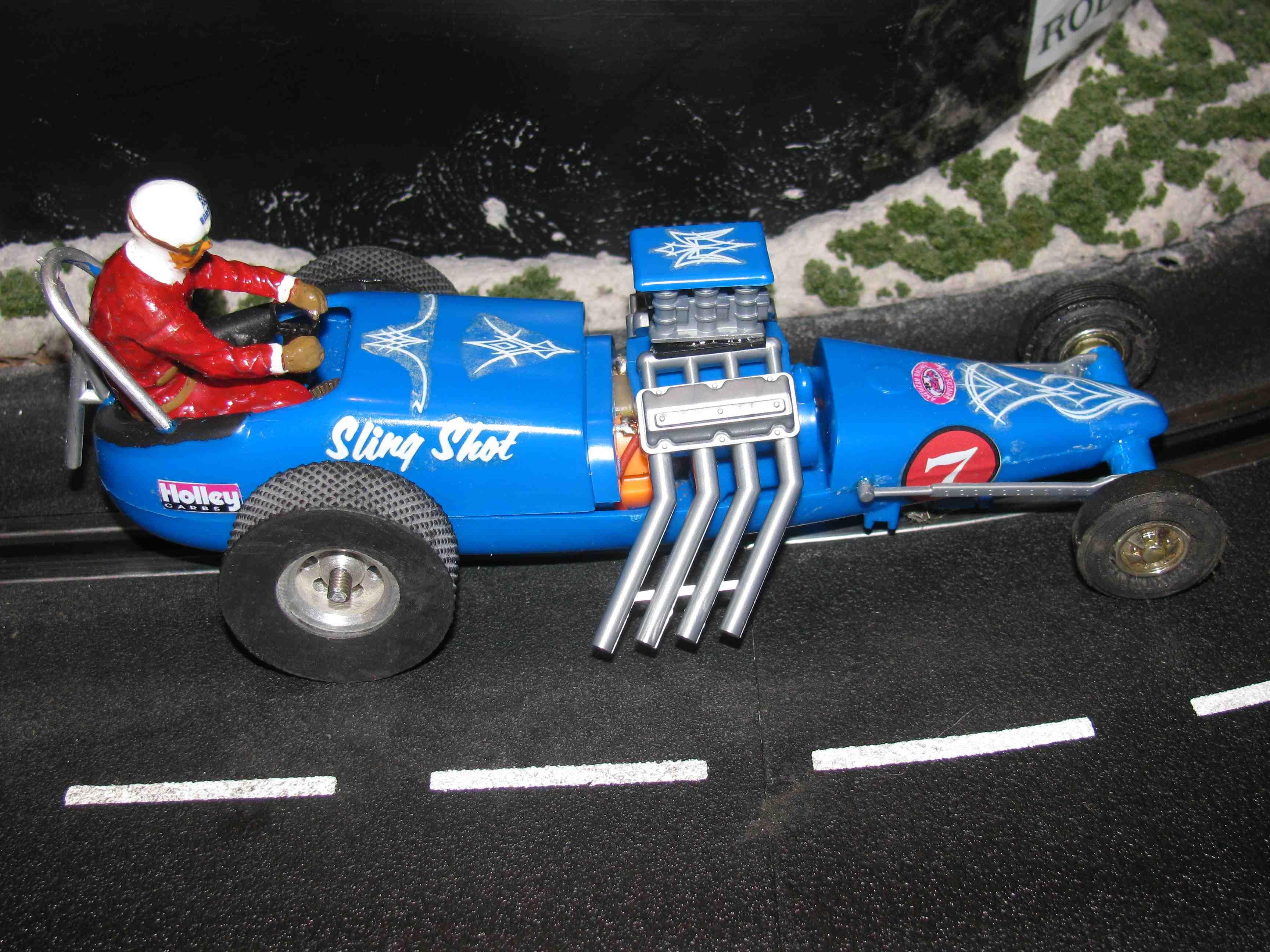 * SOLD * Vintage Revell Monogram Sling Shot Dragster Slot Car 1/32 Scale - Car #7