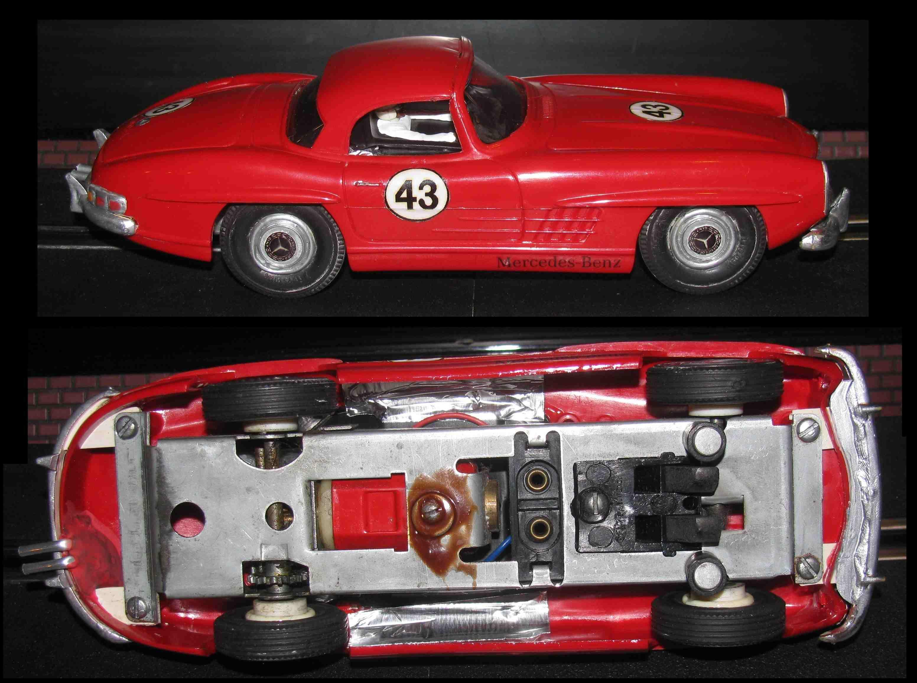 * Winter Super Sale * Vintage ITC Mercedes Benz 300SL Sport Coupe 1:24 Scale Slot Car