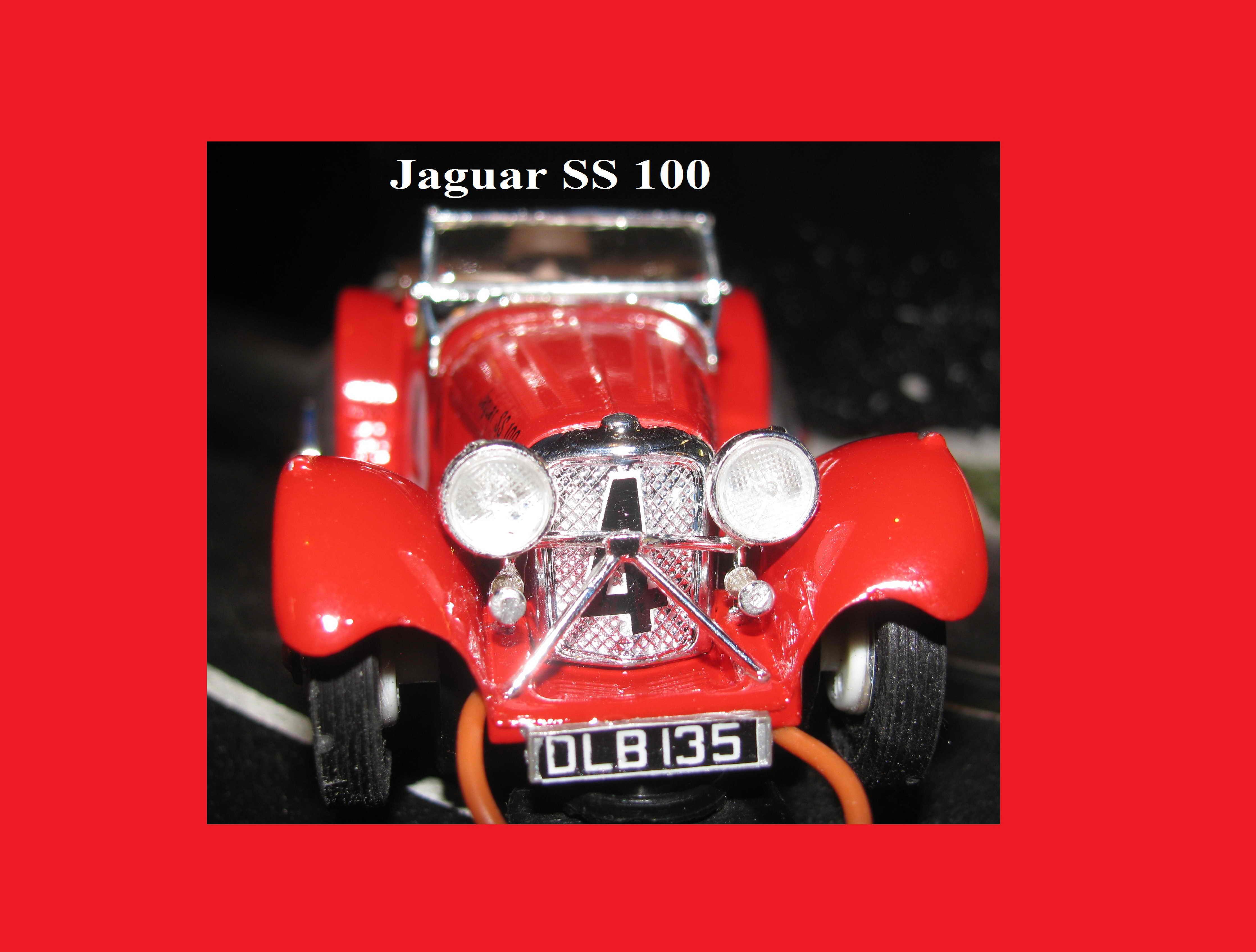 Vintage 1936 Jaguar SS-100 Slot Car 1/32 Scale