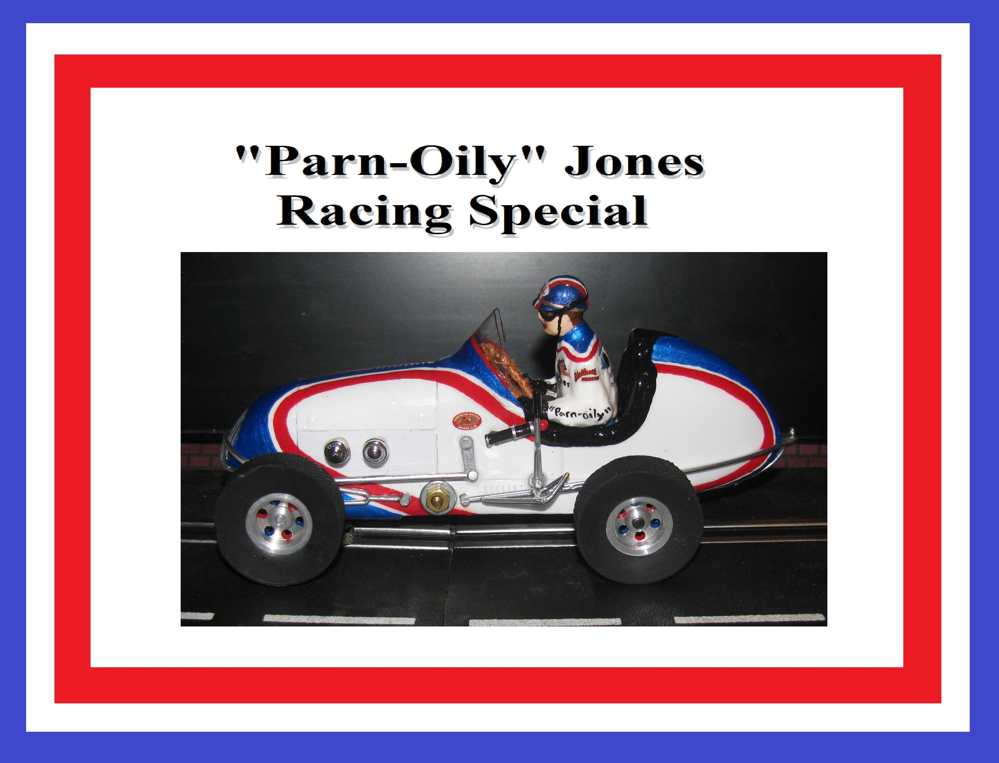 "*SOLD* * SPECIAL EASTER PRICE FOR CHARLES E.* Monogram Midget Racer Parnelli Jones Kurtis Racing Special Slot Car 1:24 Scale ""Parn-OILY-Jones"""