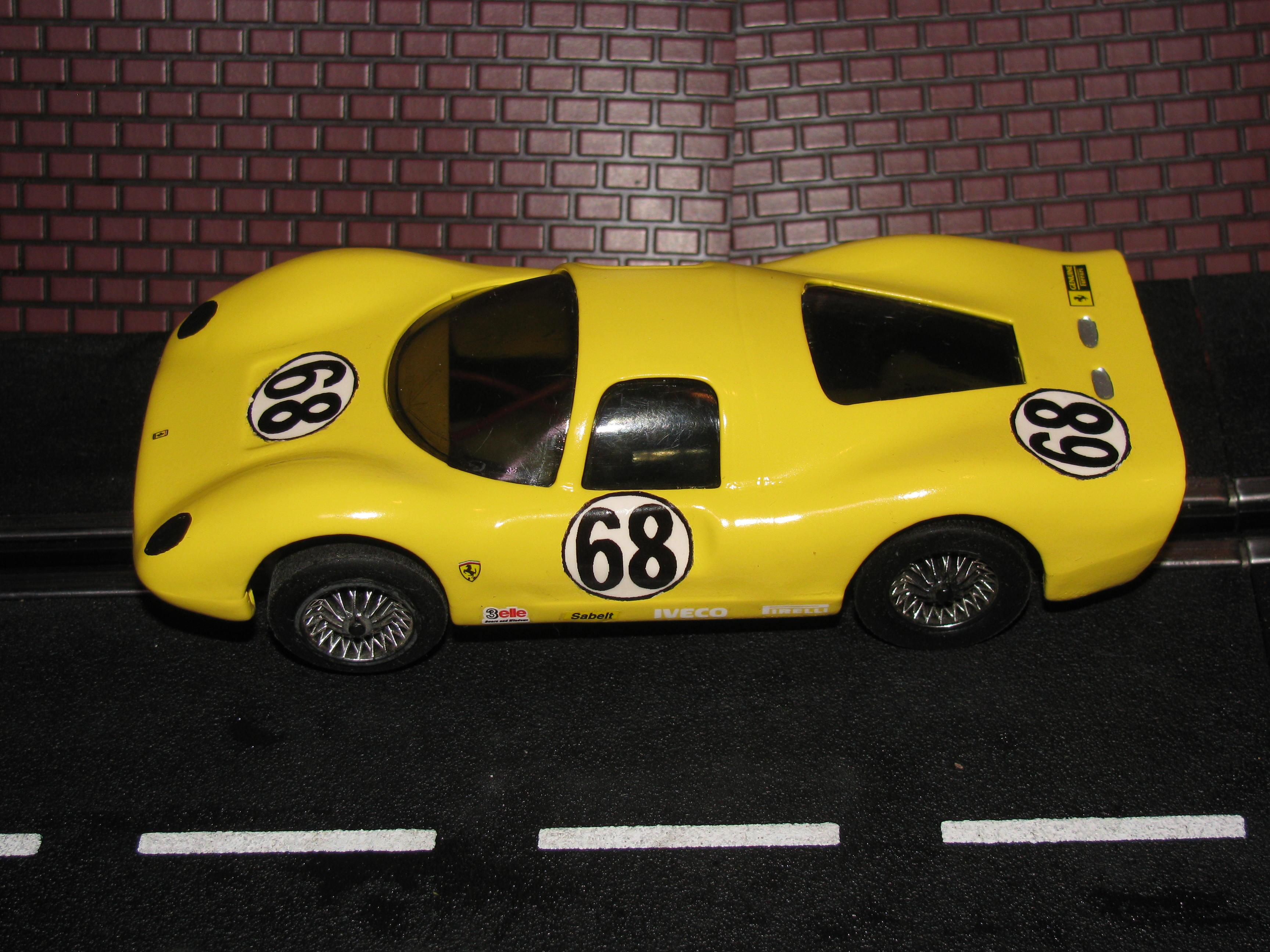Vintage 1967 ELDON Ferrari P3 Dino Competizione Slot Car - 1/32 Scale