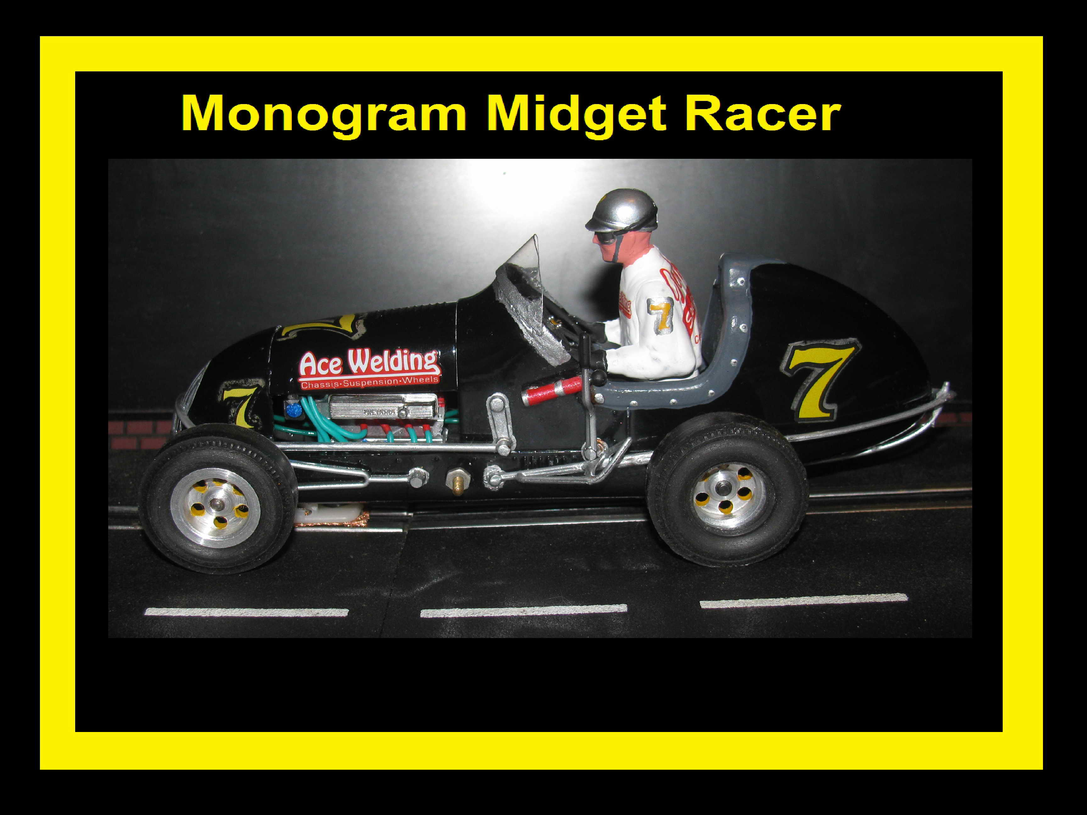 * SOLD * Midget Racer Johnny's Speed Shop Monogram Special Car #7