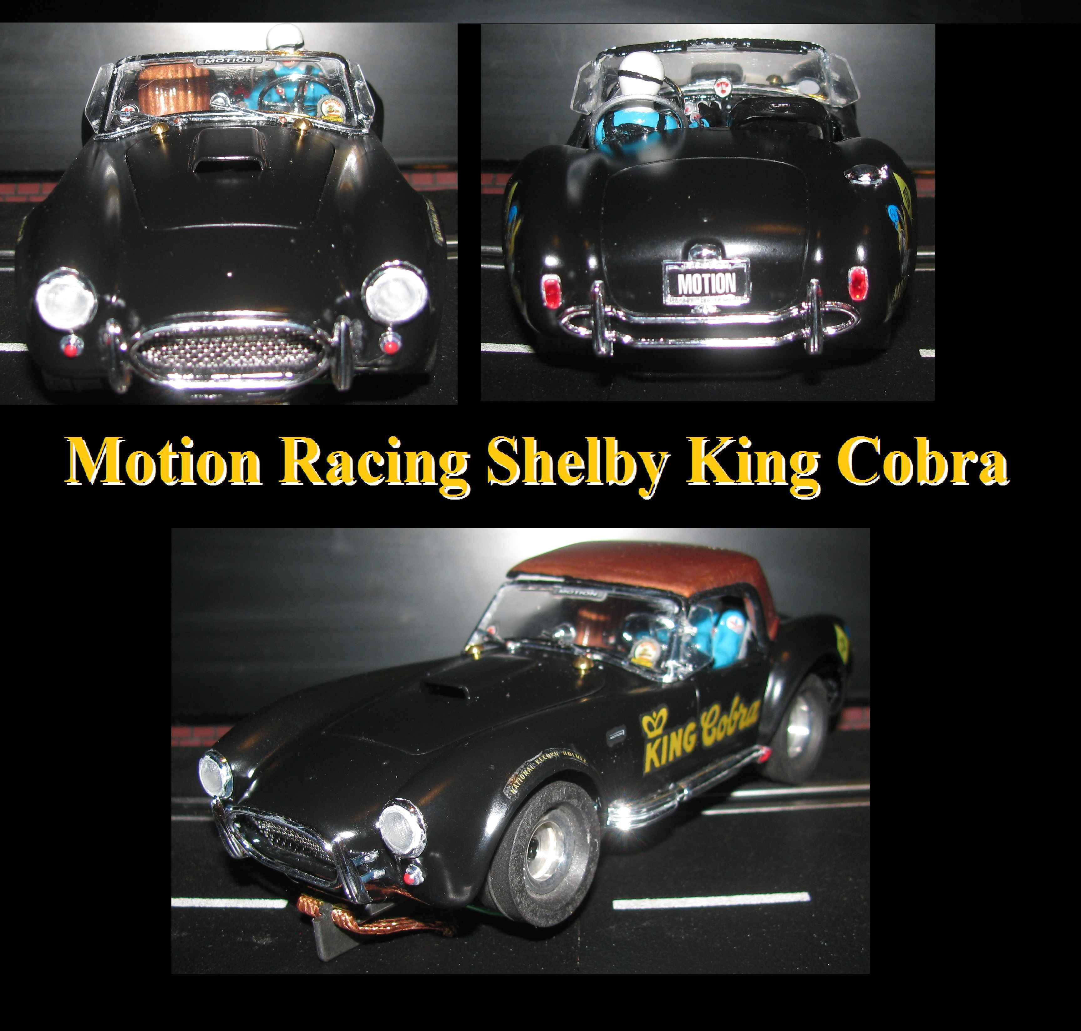 "* SUMMER SALE * 1965 Shelby Cobra 427 Motion Performance ""King Cobra"" Racer 1:24 Scale Slot Car"
