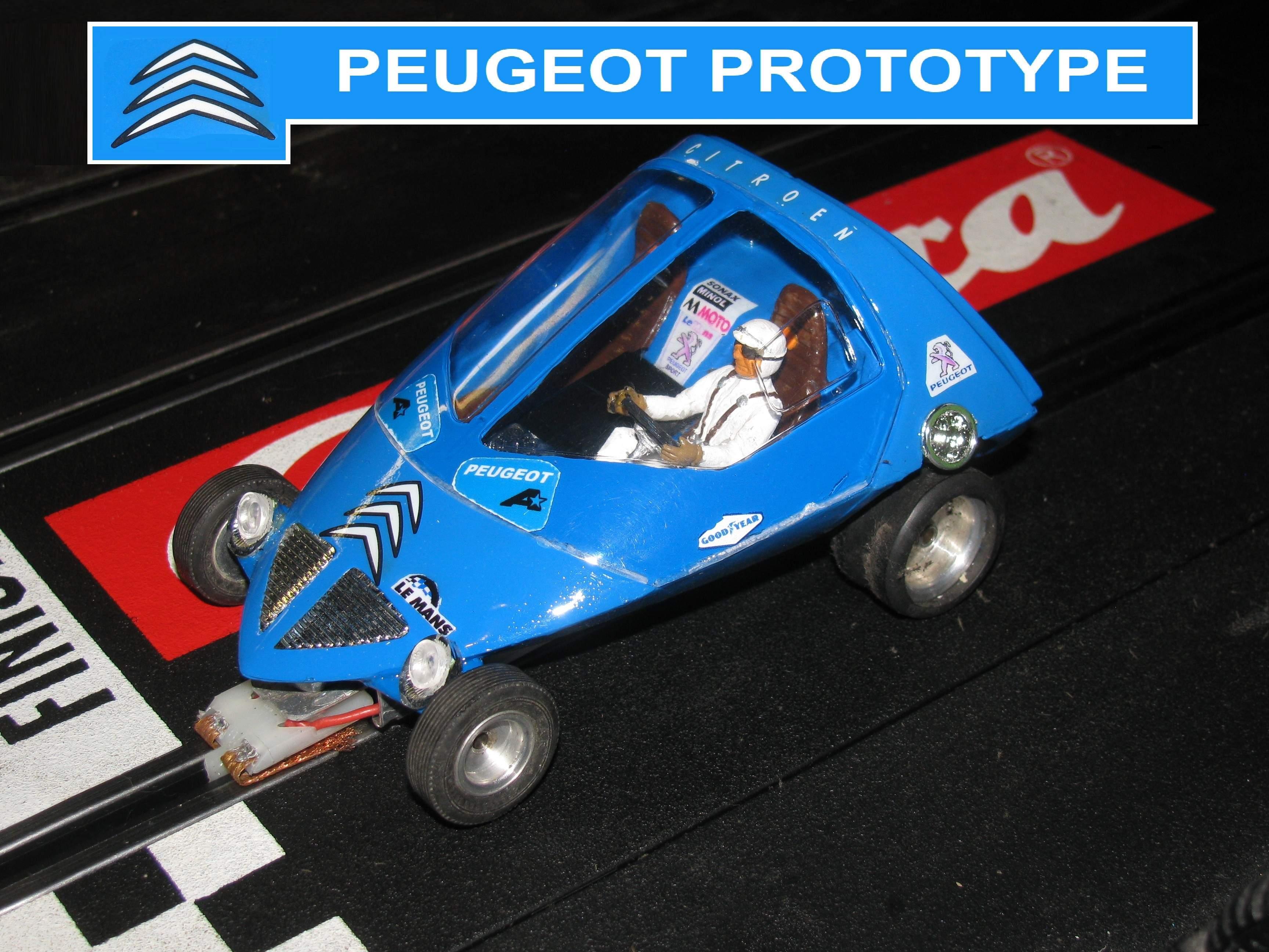 * SALE * Peugeot Citroen Prototype Slot Car 1/24 Scale