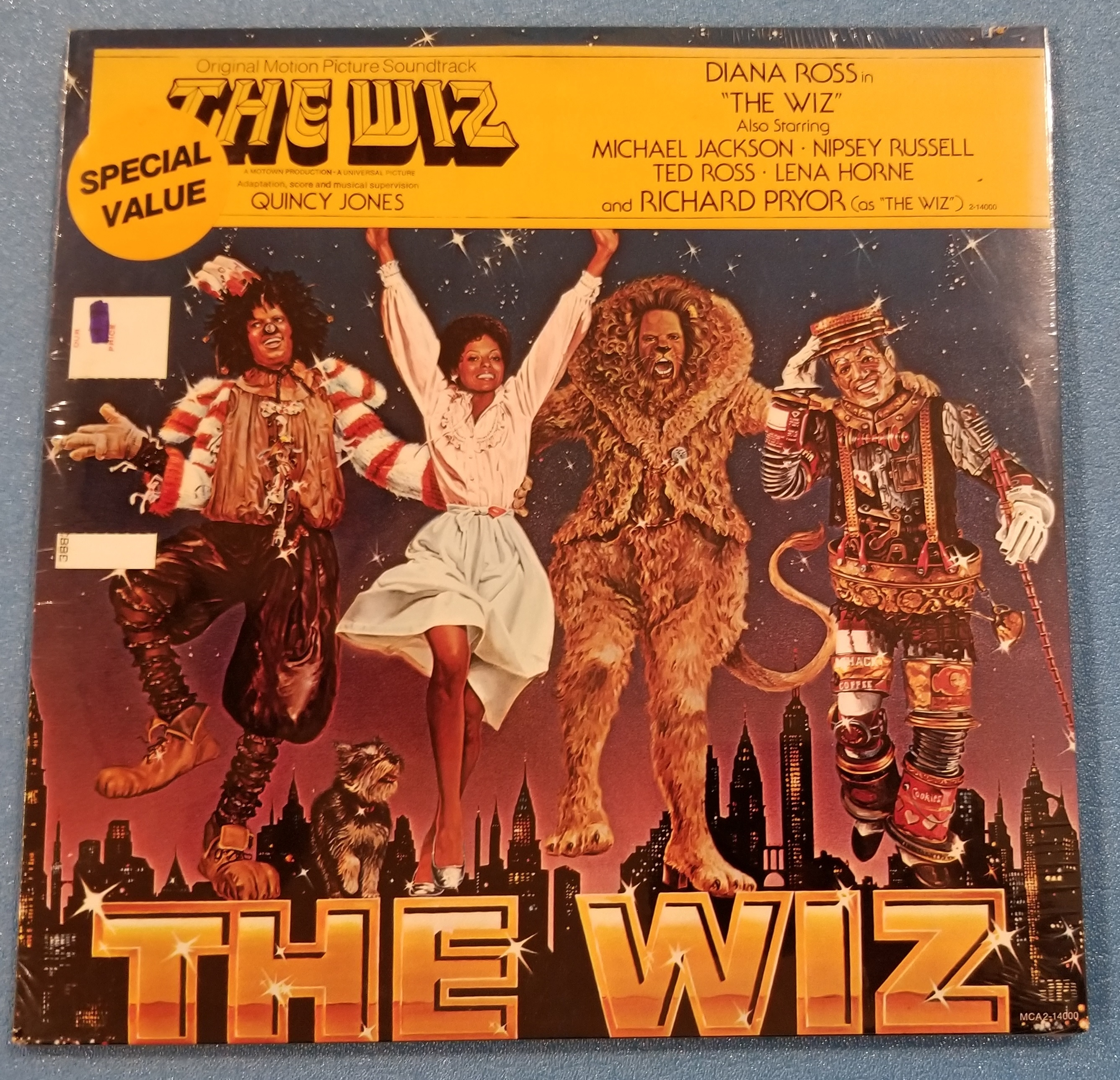 The Wiz Original Motion Picture Soundtrack (Quincy Jones) SEALED/New Old Stock