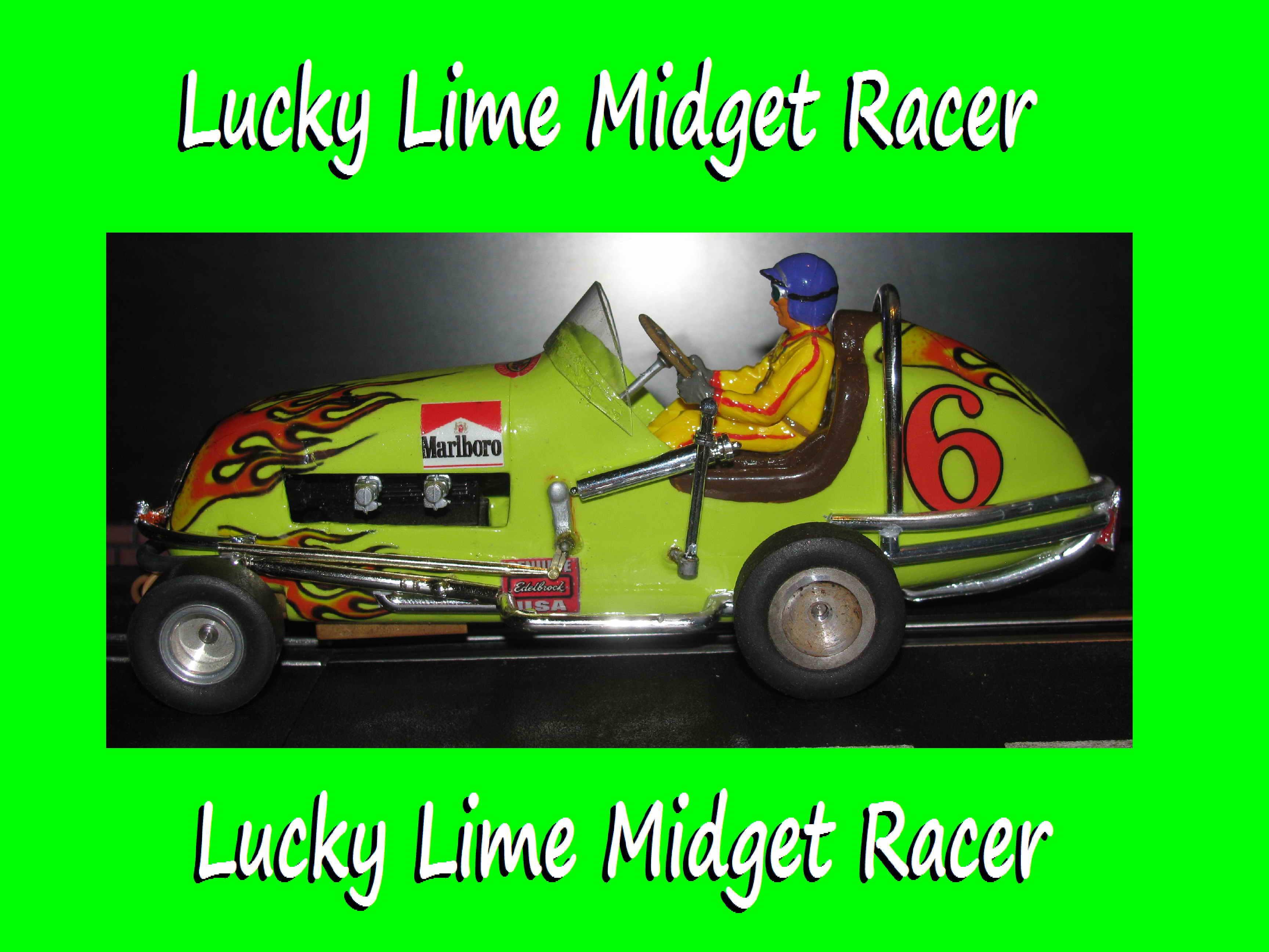 *SOLD* Vintage Monogram Midget Racer Lucky Lime Slot Car